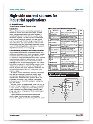 analog design journal アナログ tij co jphigh side current sources for industrial applications