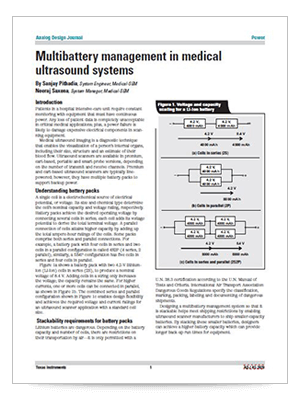 Multibattery management in medical ultrasound systems (英語)