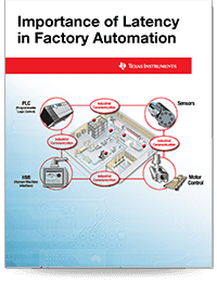 Cover page of the Importance of Latency in Factory Automation application report