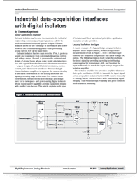 Cover page for industrial data-acquisition interfaces with digital isolators