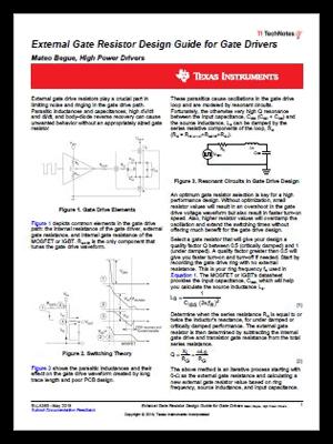 Gate Drivers Technical Documents Power Ics Ti Com