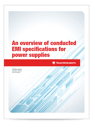An overview of conducted EMI specifications for power supplies (英語)