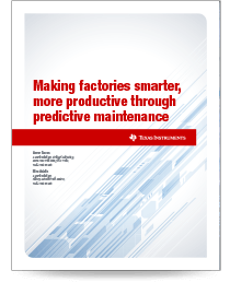 Making factories smarter, more productive through predictive maintenance