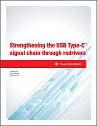 Strengthening the USB Type-C™ signal chain through redrivers(英語)ホワイト・ペーパーの表紙