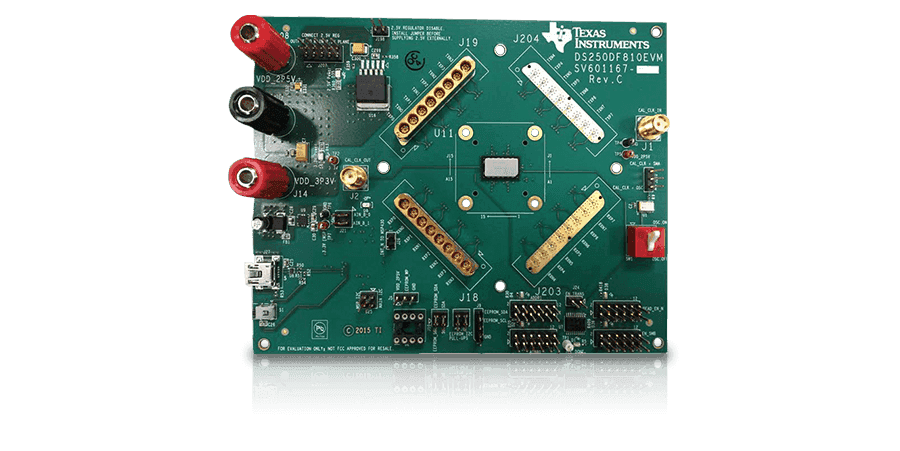 28 Gbps multi-rate 8-channel DS280DF810 retimer evaluation module