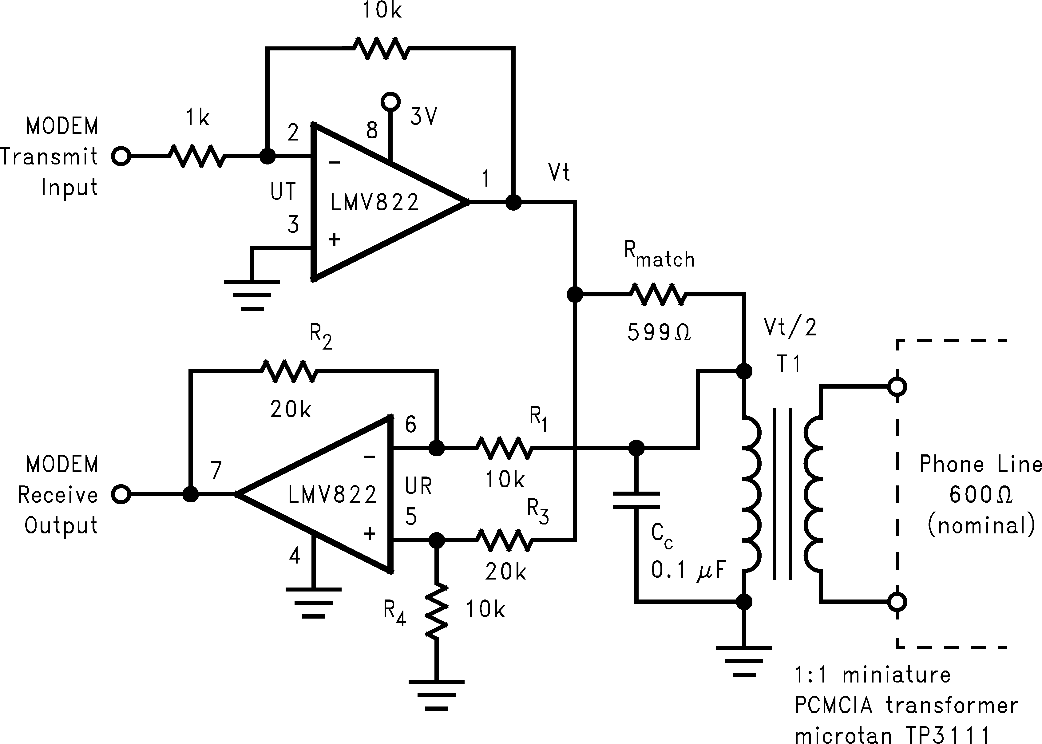 Lmv824 N Operational Amplifier Basics Electrical Engineering 82 Typical Applications