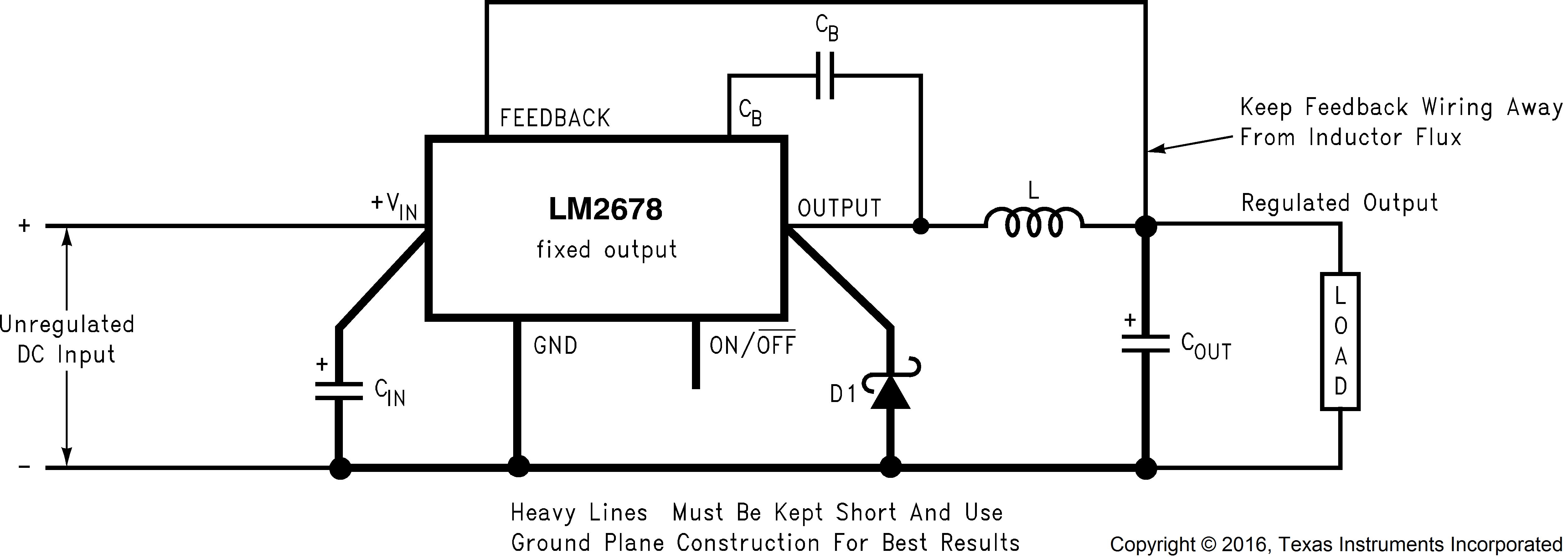 Lm2678 Simulated Inductor Circuit For Replacing The Passive 822 Fixed Output Voltage Design Example