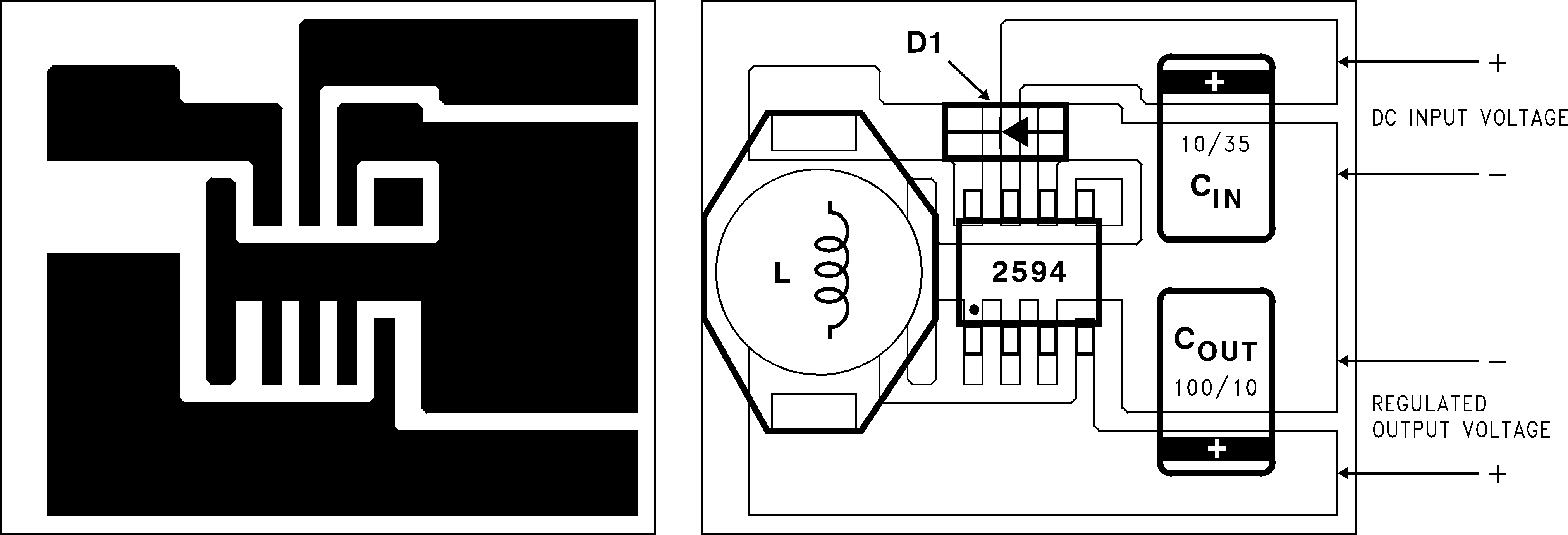 Lm2594hv Schottky Diodes Rectifiers Mounted On A Printed Circuit Boards For 112 Layout Example