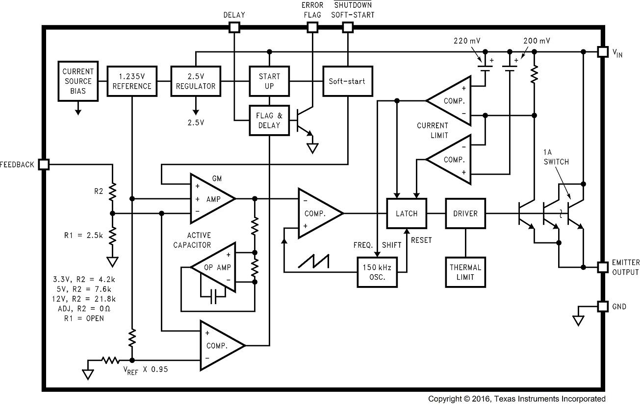 Lm2598 Down Switching Regulator On Step Voltage 5v Schematic 01259329