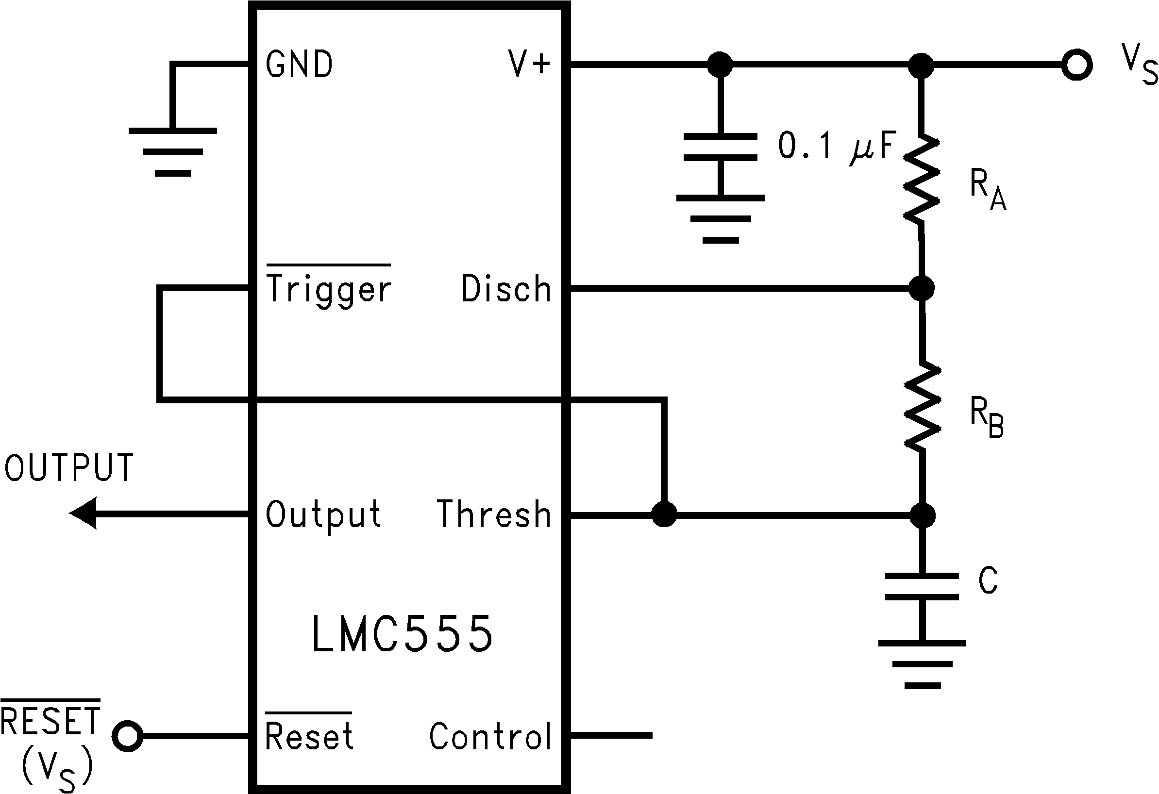 Lmc555 The Astable Oscillator Operating Mode In 555 Timer Ic Circuit 866905 Figure 6 Variable Duty Cycle This Of Operation
