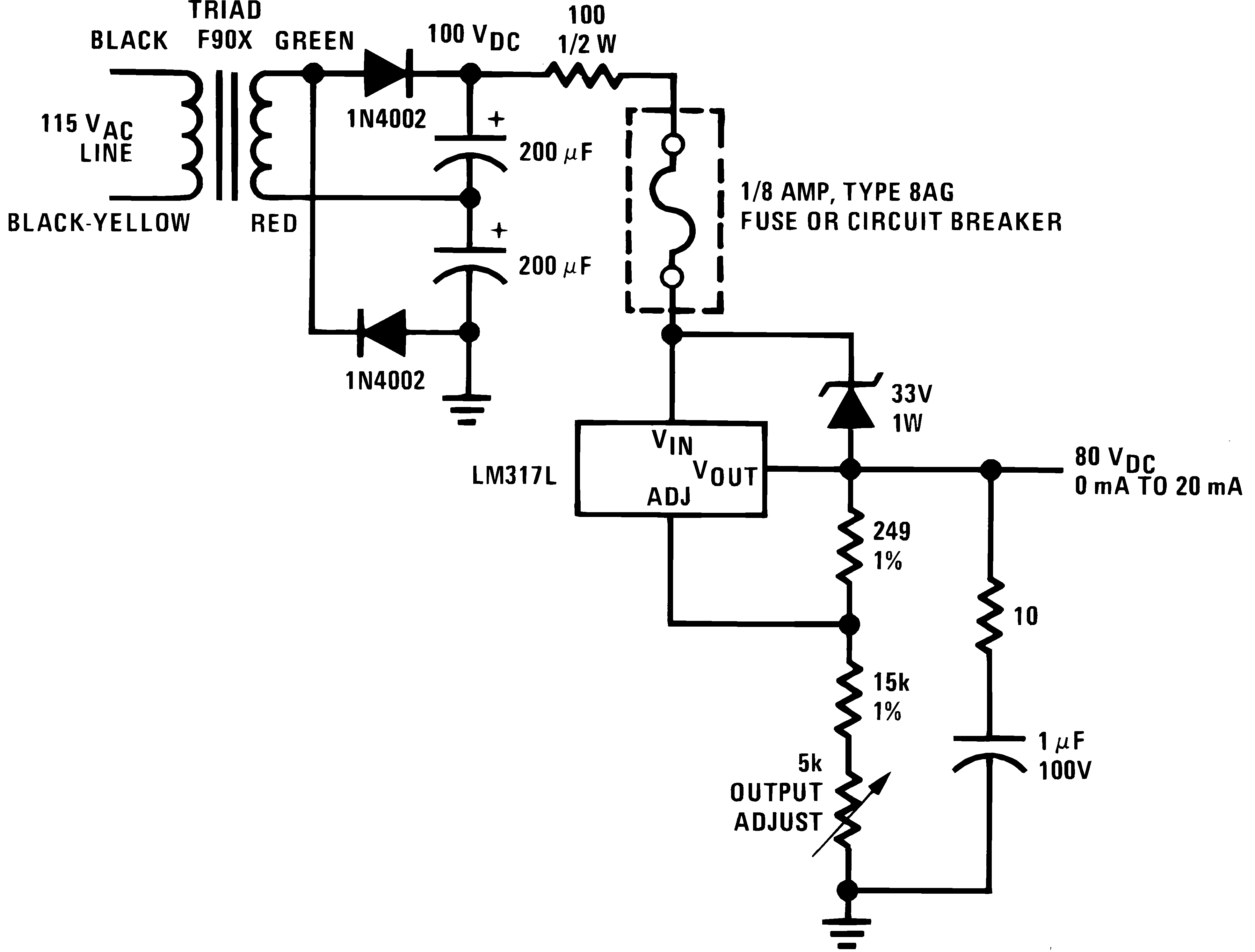 Lm317l N Lamp Flasher Using Lm317 906428