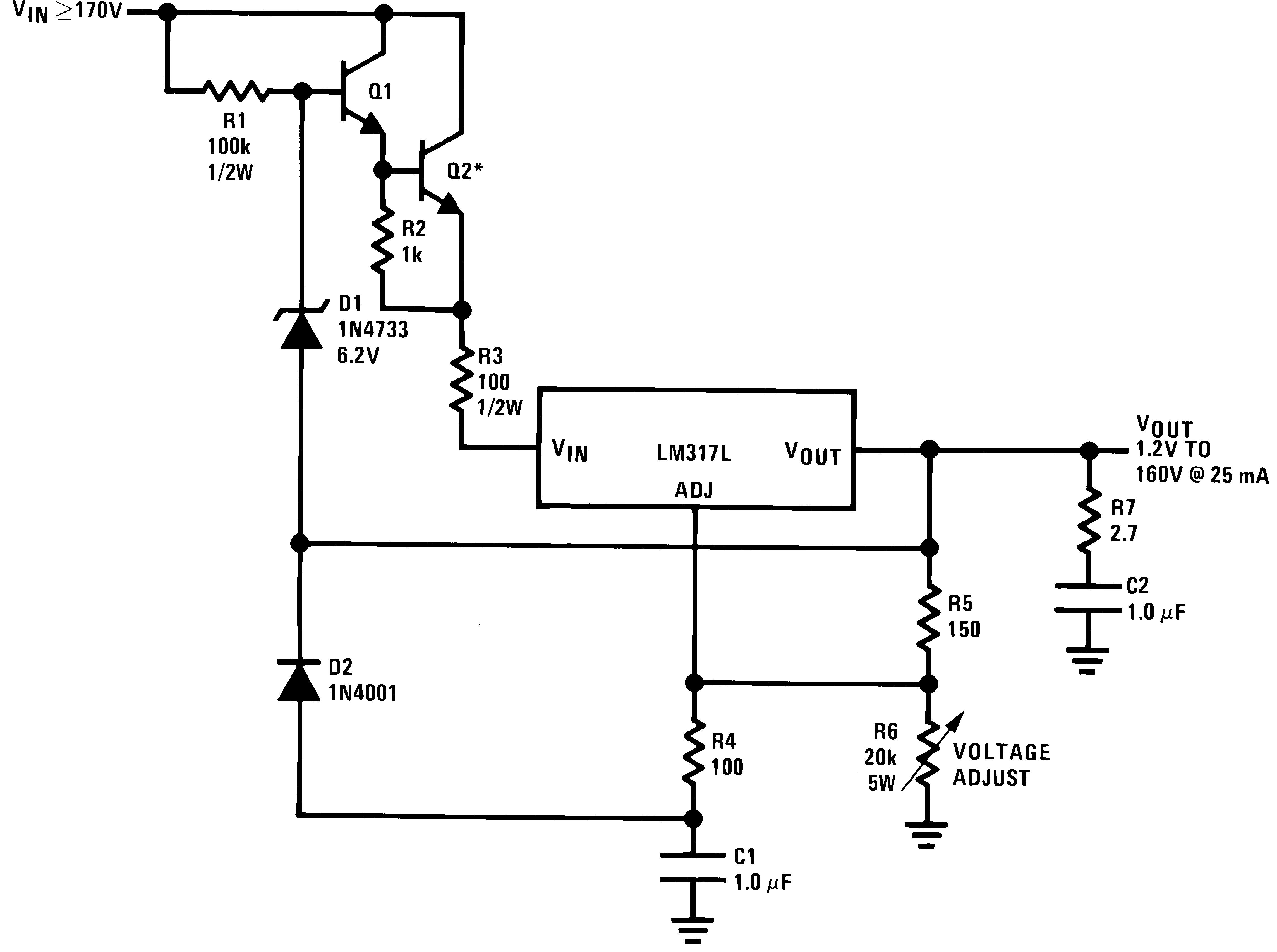 Lm317l N Voltage Regulator Circuits 906429