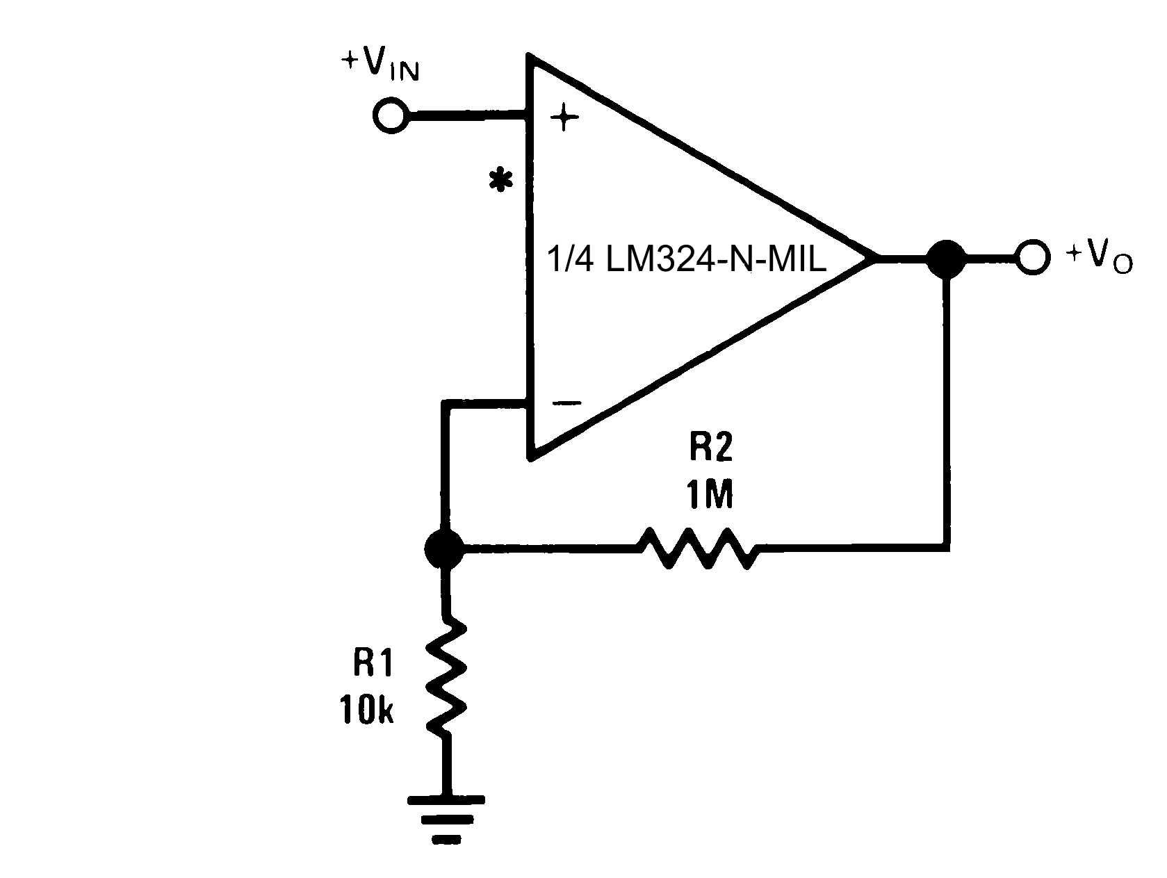 Lm324 N Mil Non Inverting Ac Amplifier Circuit Diagram 821 Dc Gain 0 V Input Output