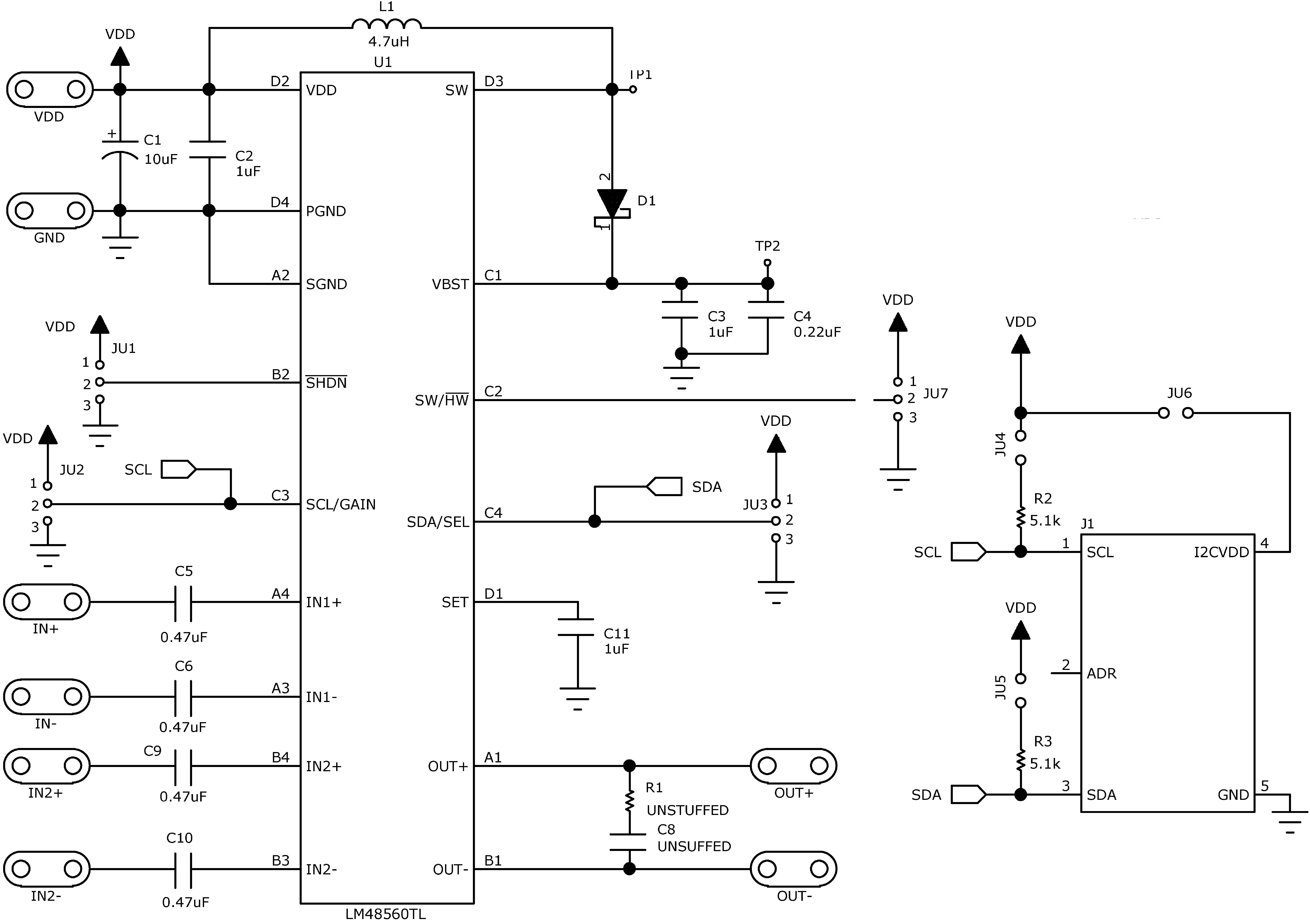 Lm48560 Piezo Buzzer Driver Circuit Diagram 30150779 Figure 28 Demo Board Schematic