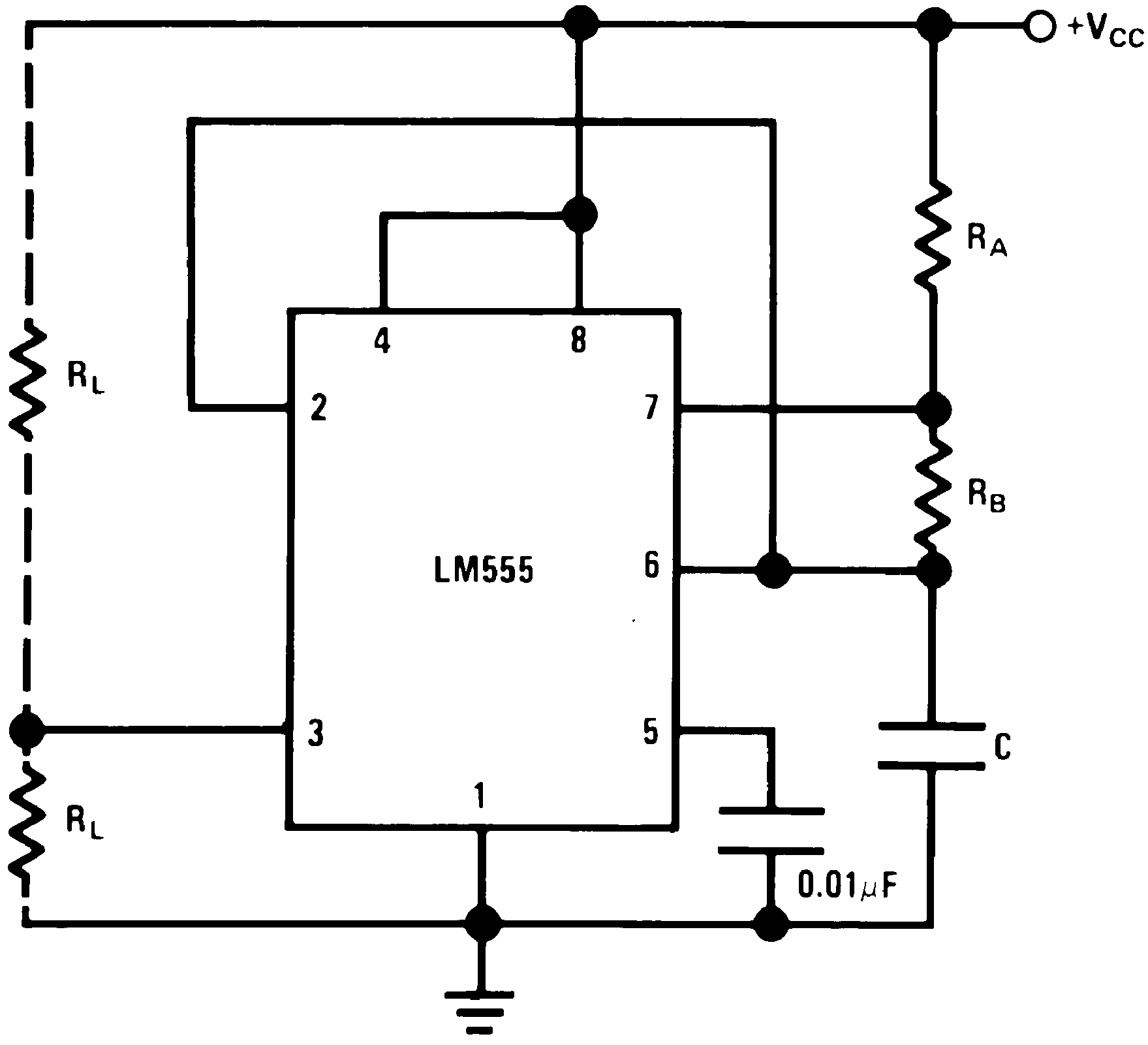 Lm555 The Astable Oscillator Operating Mode In 555 Timer Ic Circuit 00785108 Figure 14 This Of Operation