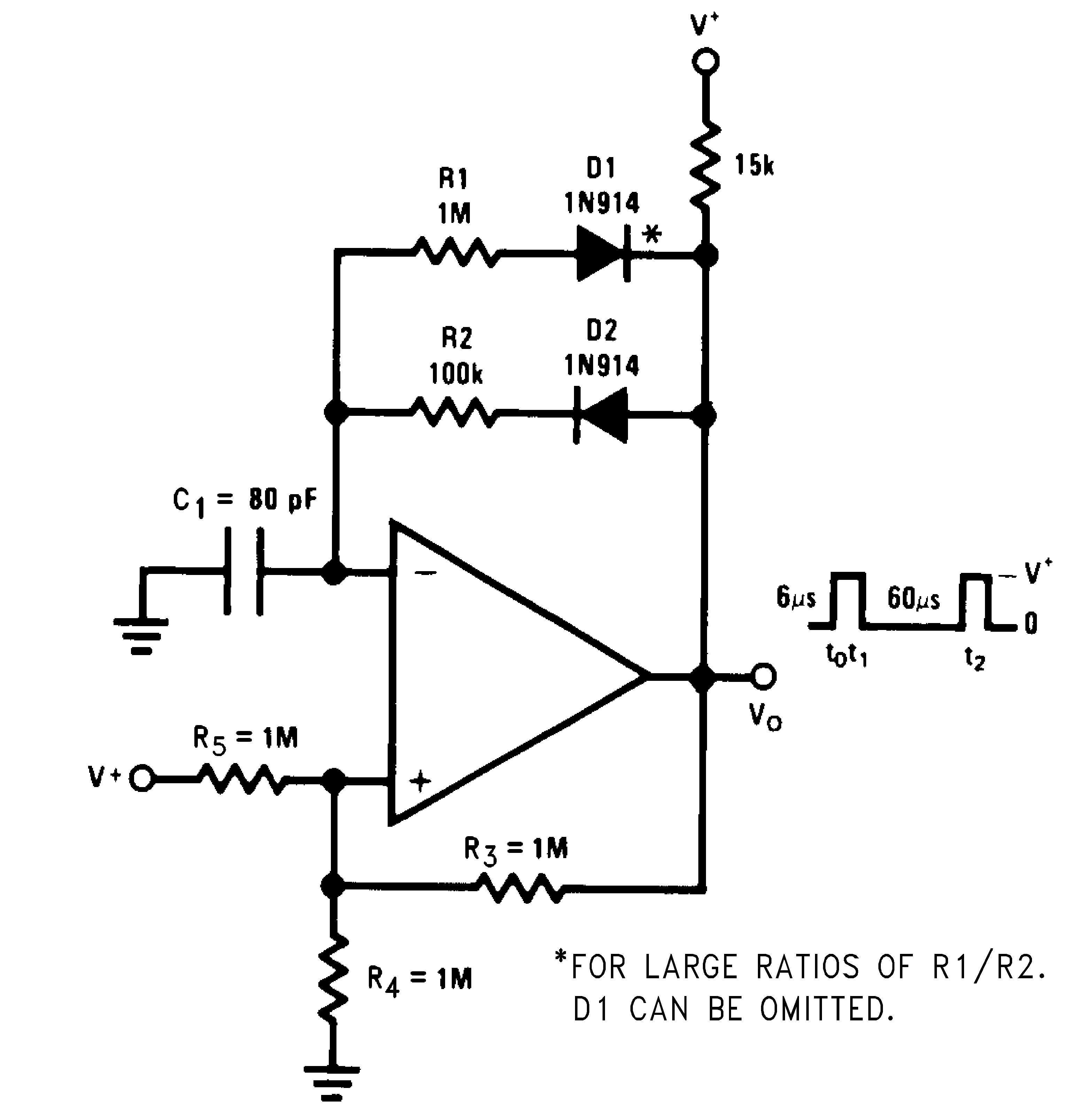 Figure 5 Comparator Circuit With Hysteresis Lmv339 N 24 Pulse Generator Variable Duty Cycle
