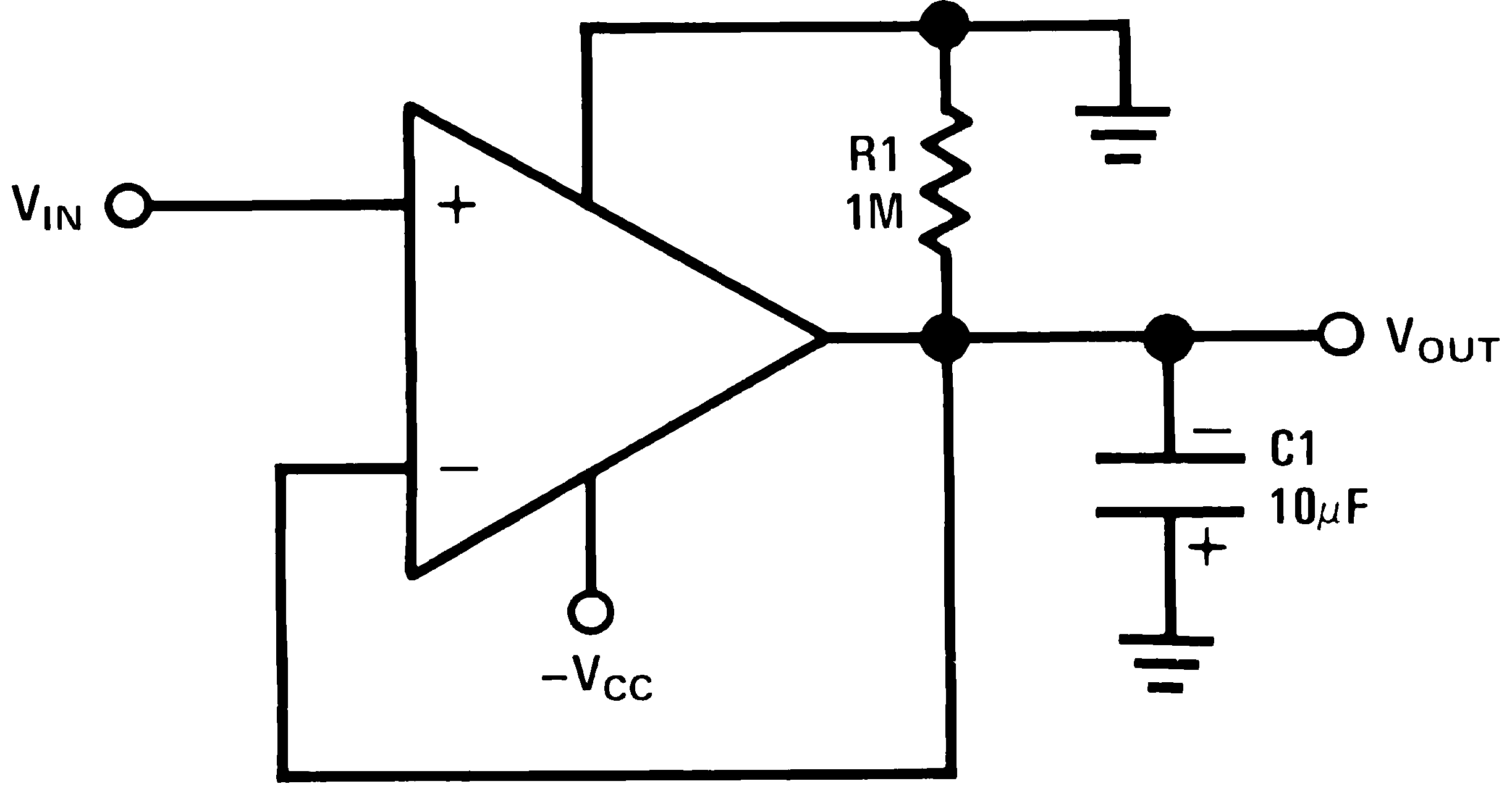 Lmv339 N Inverting Comparator With Hysteresis 825 Negative Peak Detector