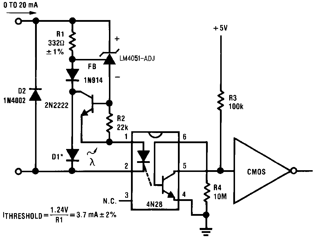 Lm4051 N Current Detector Circuit Typical Application 12 Precision Floating Figure 30