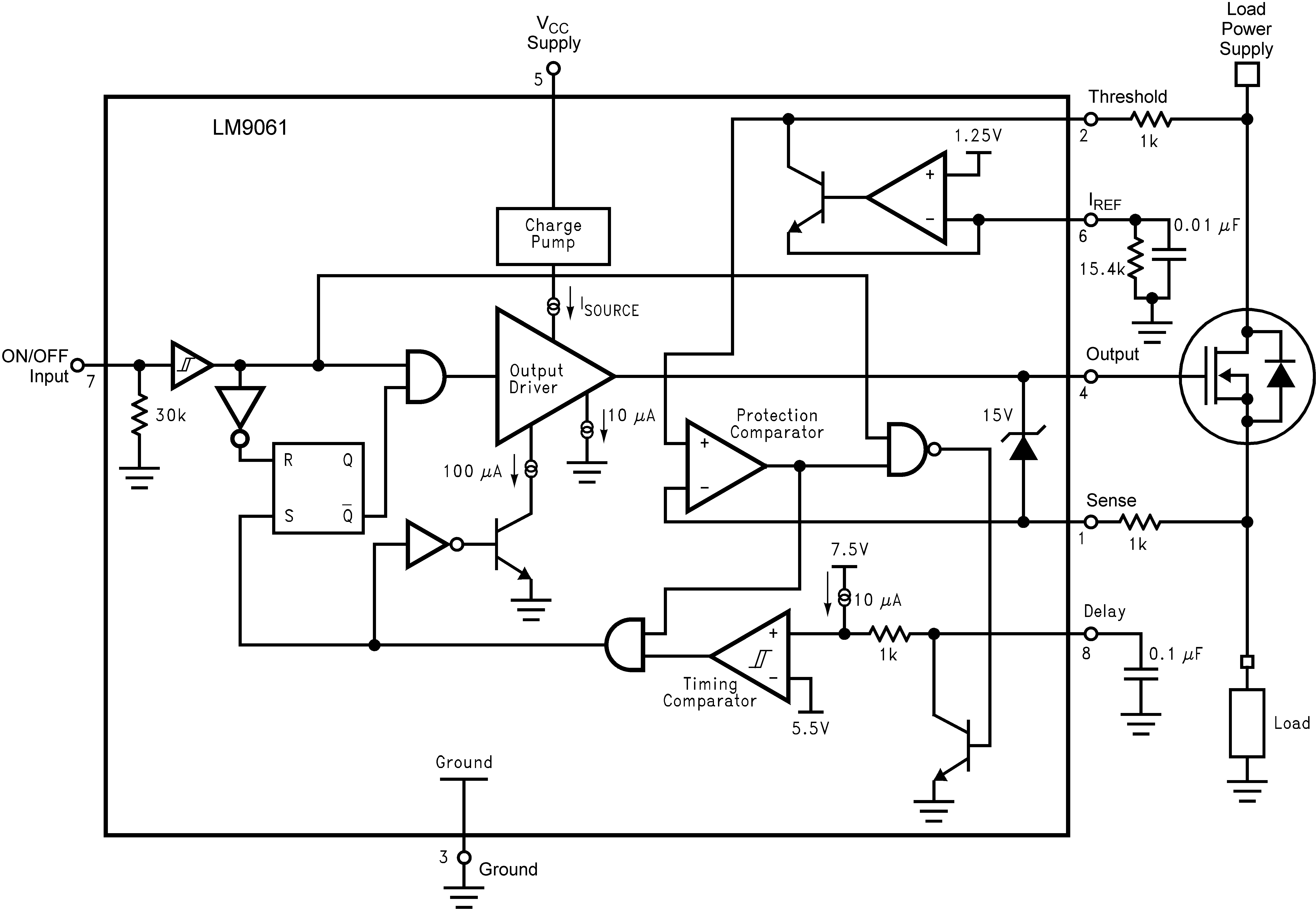 Lm9061 Mosfet Protection Circuit 72 Functional Block Diagram