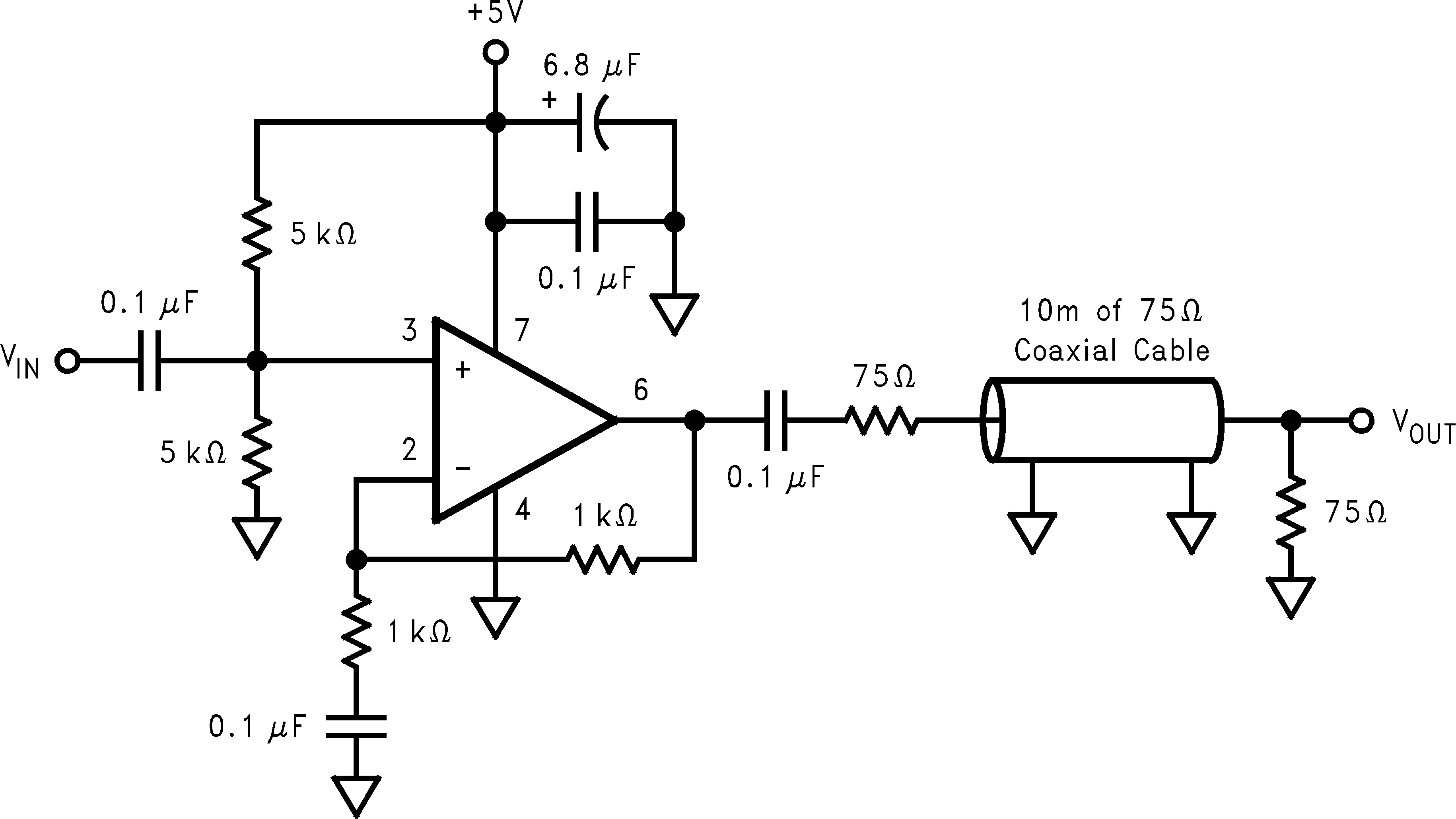 Lmh6723 Ac Coupling A Noninverting Amplifier 72 Typical Application