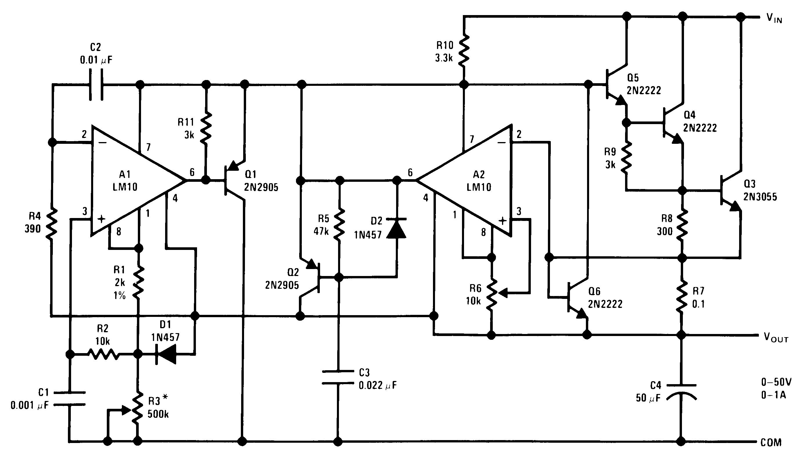 Lm10 Psu Diagram Furthermore Shunt Voltage Regulator Circuit Negative 00565261