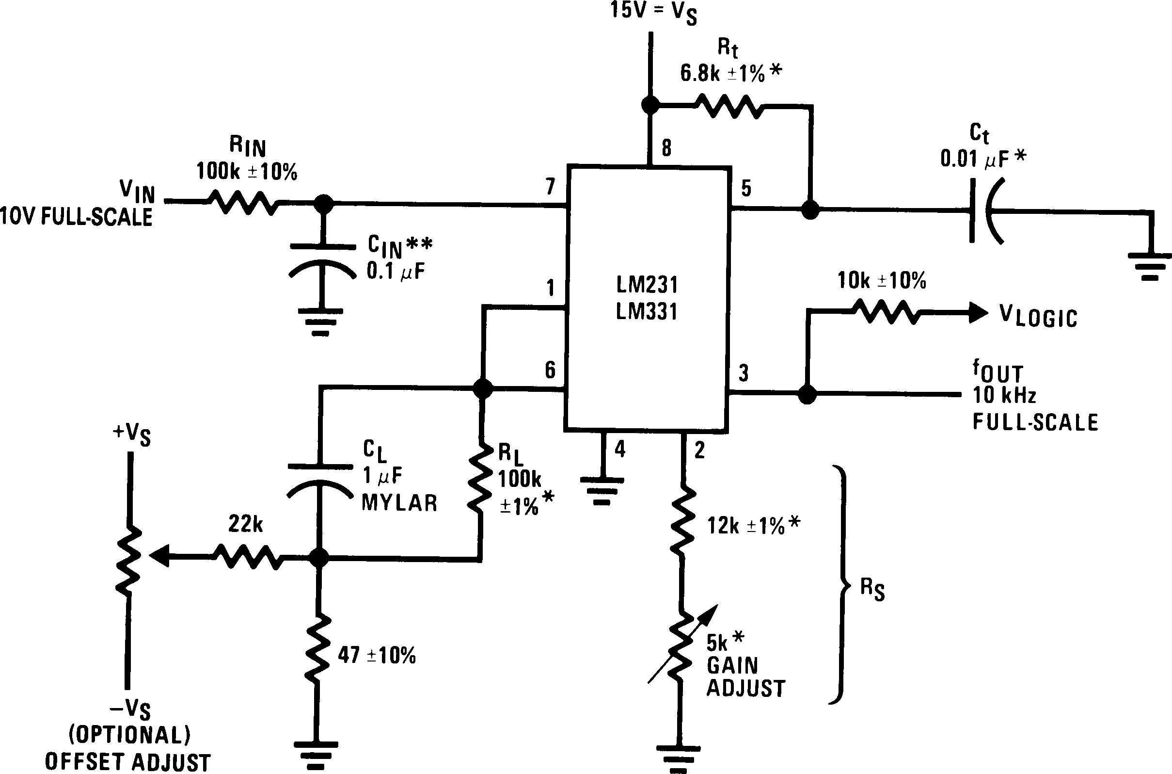 Lm331 555 Ic Negative Voltage Power Supply Circuit Diagram Lm231 00568001