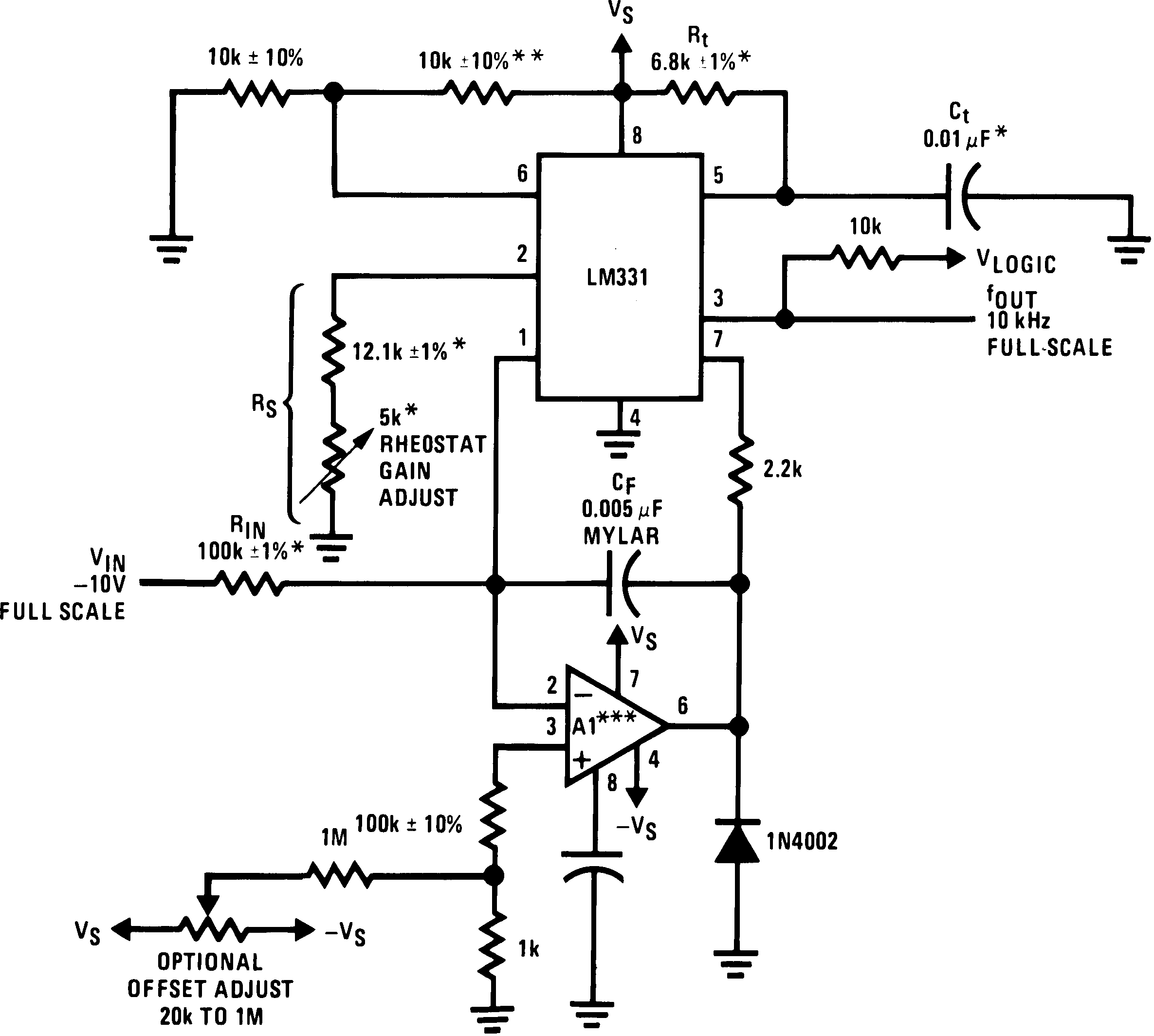 Lm331 Timer Circuit Using 555 Lm231 00568005