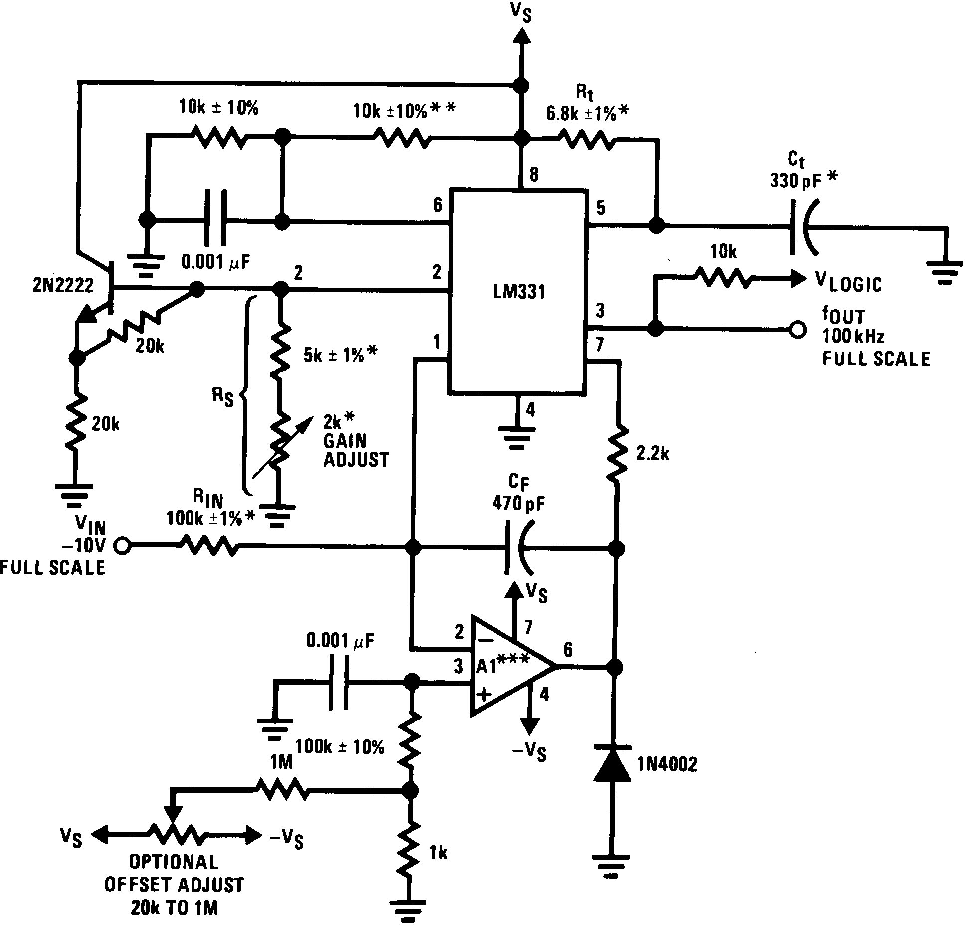 Lm331 Shown To Use Lm324 Voltage Comparator Composed Of A Test Circuit It Lm231 00568006