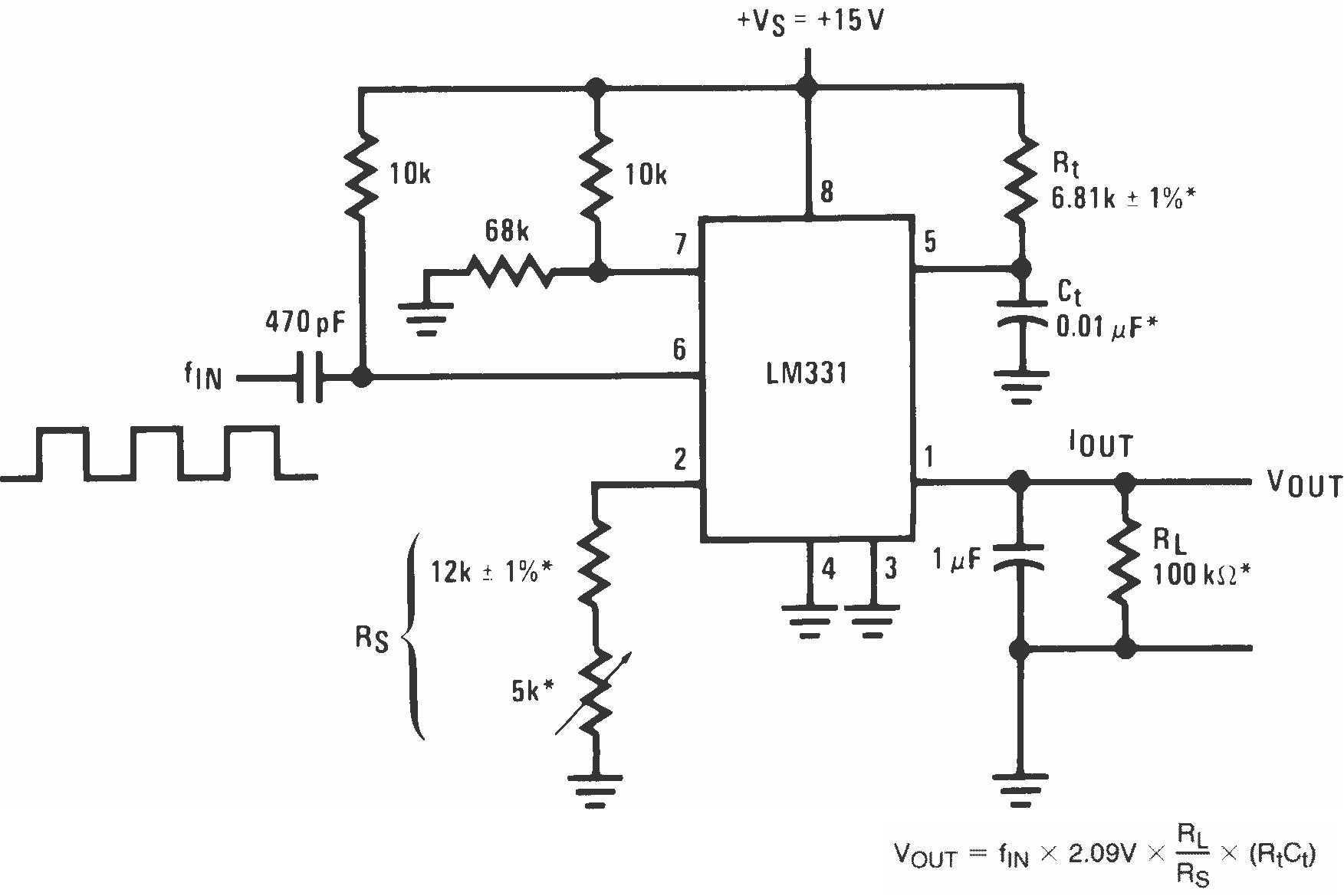 lm231 tij co jp rh tij co jp Frequency to DC Converter Frequency to Voltage Converter Principle
