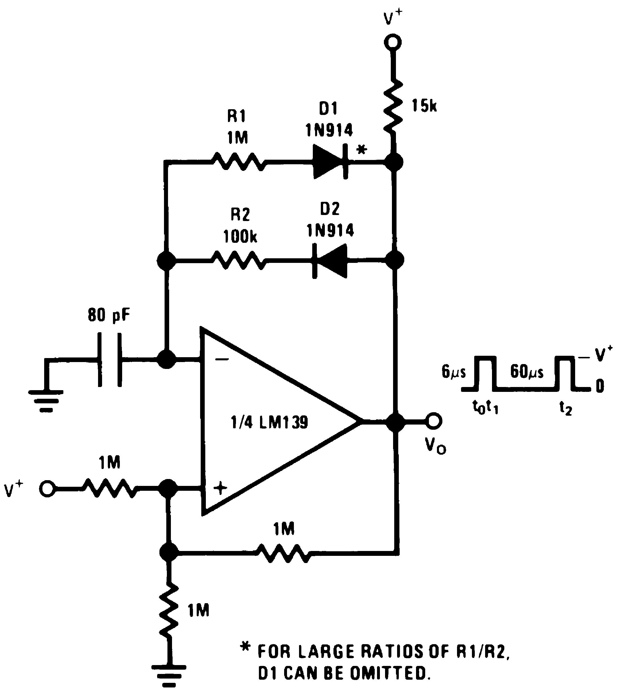Lm239 N Pulse Generator Astable Multivibrator Circuit Diagram Tradeofic V 15 Vdc