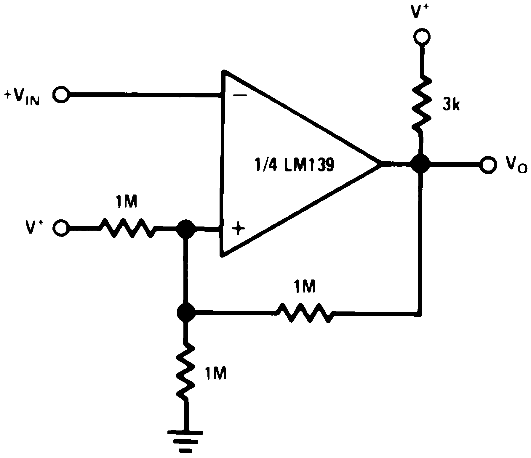 Lm239 N Figure 5 Comparator Circuit With Hysteresis 25 Inverting V 15 Vdc