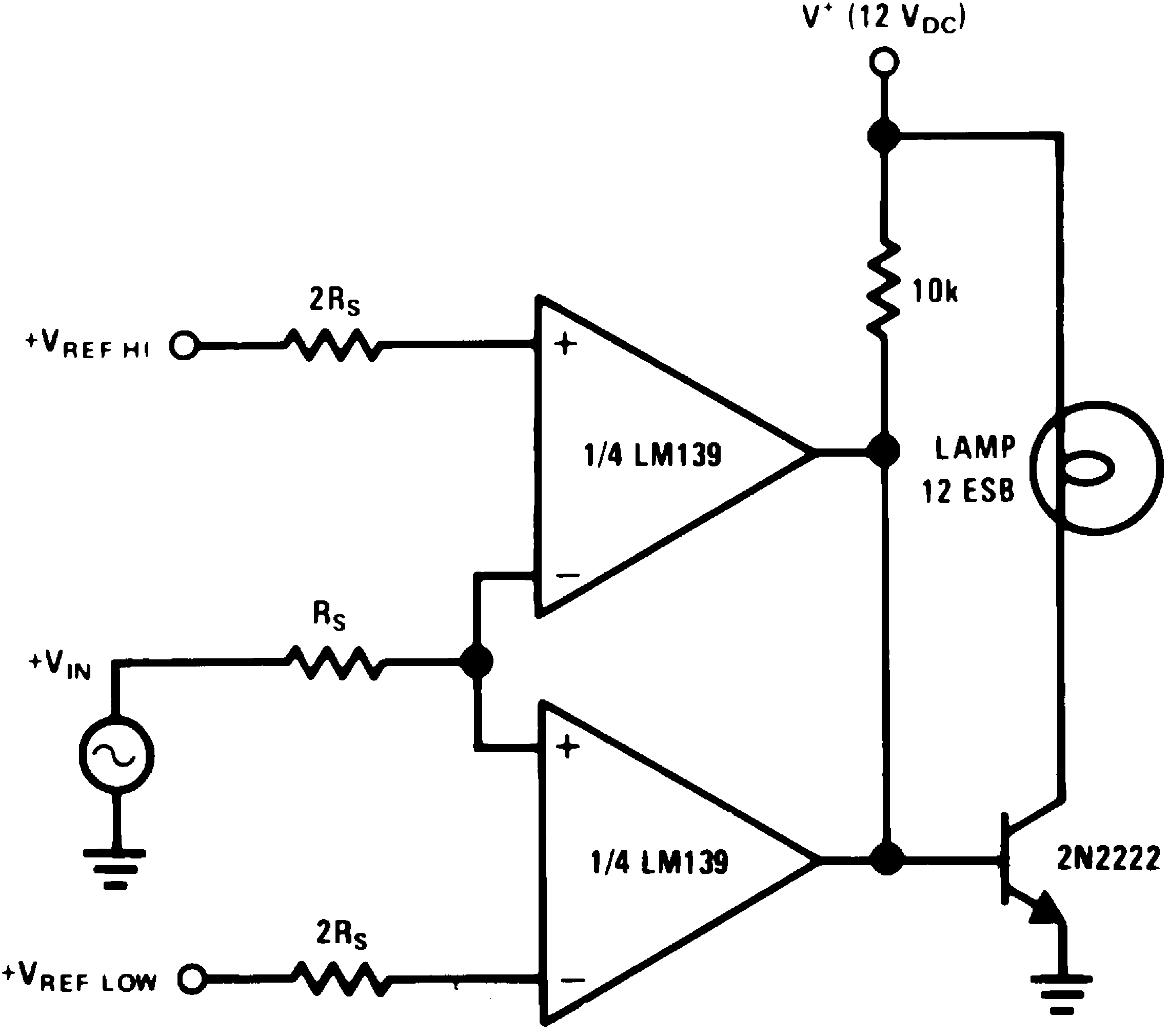 Lm239 N The Circuit Schematic For Lm339 Quad Voltage Comparator Limit V 15 Vdc