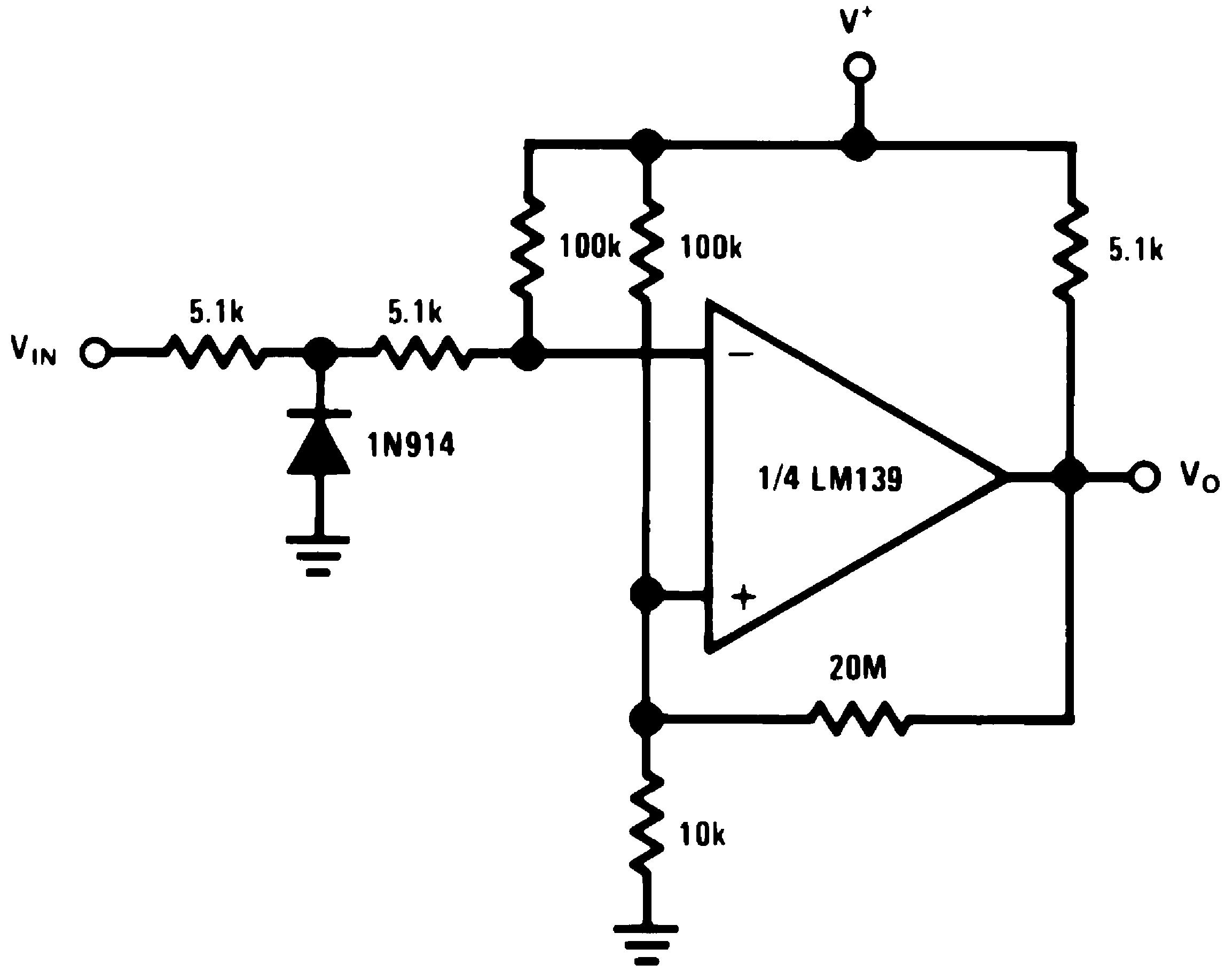 Lm239 N Cell Phone Detector Circuit Diagram On Zero Crossing Single Power Supply V 15 Vdc