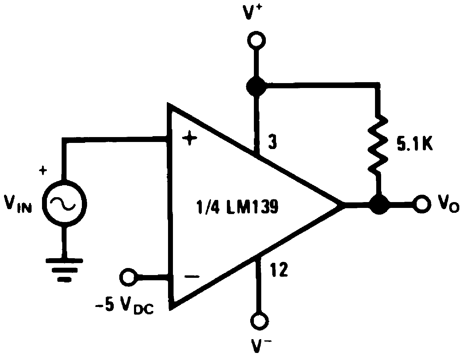 Lm239 N The Circuit Schematic For Lm339 Quad Voltage Comparator With A Negative Reference V 15 Vdc And