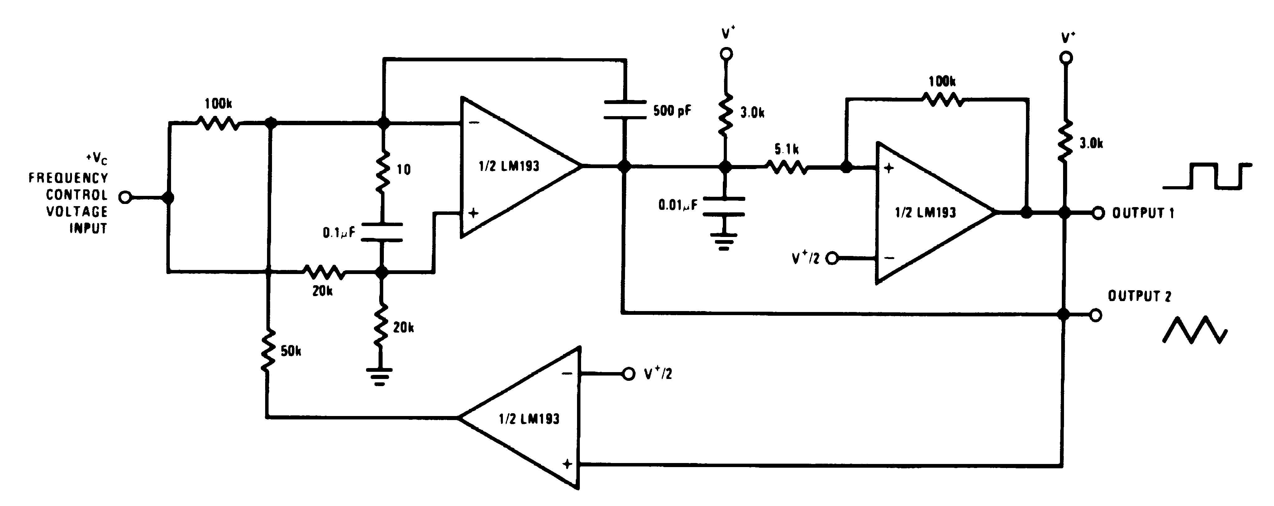 Lm193 N Comparator Oscillator Circuit By Lm311 Lm2903 Lm293 Lm393 00570941
