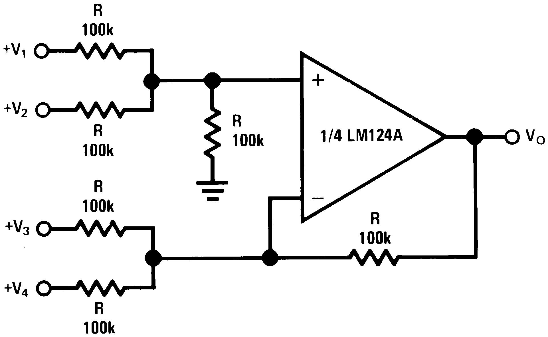 Lm324 Application Circuit Diagram | Lm324 N データシート Tij Co Jp