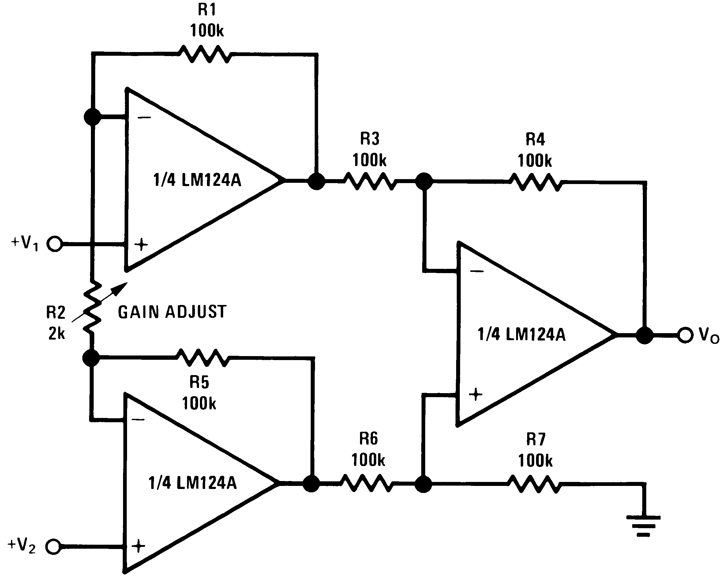 Lm2902 N Lm358 Single Power Supply Voltage Datasheet And Circuit Diagrams Lm124 Lm224 Lm324 929928