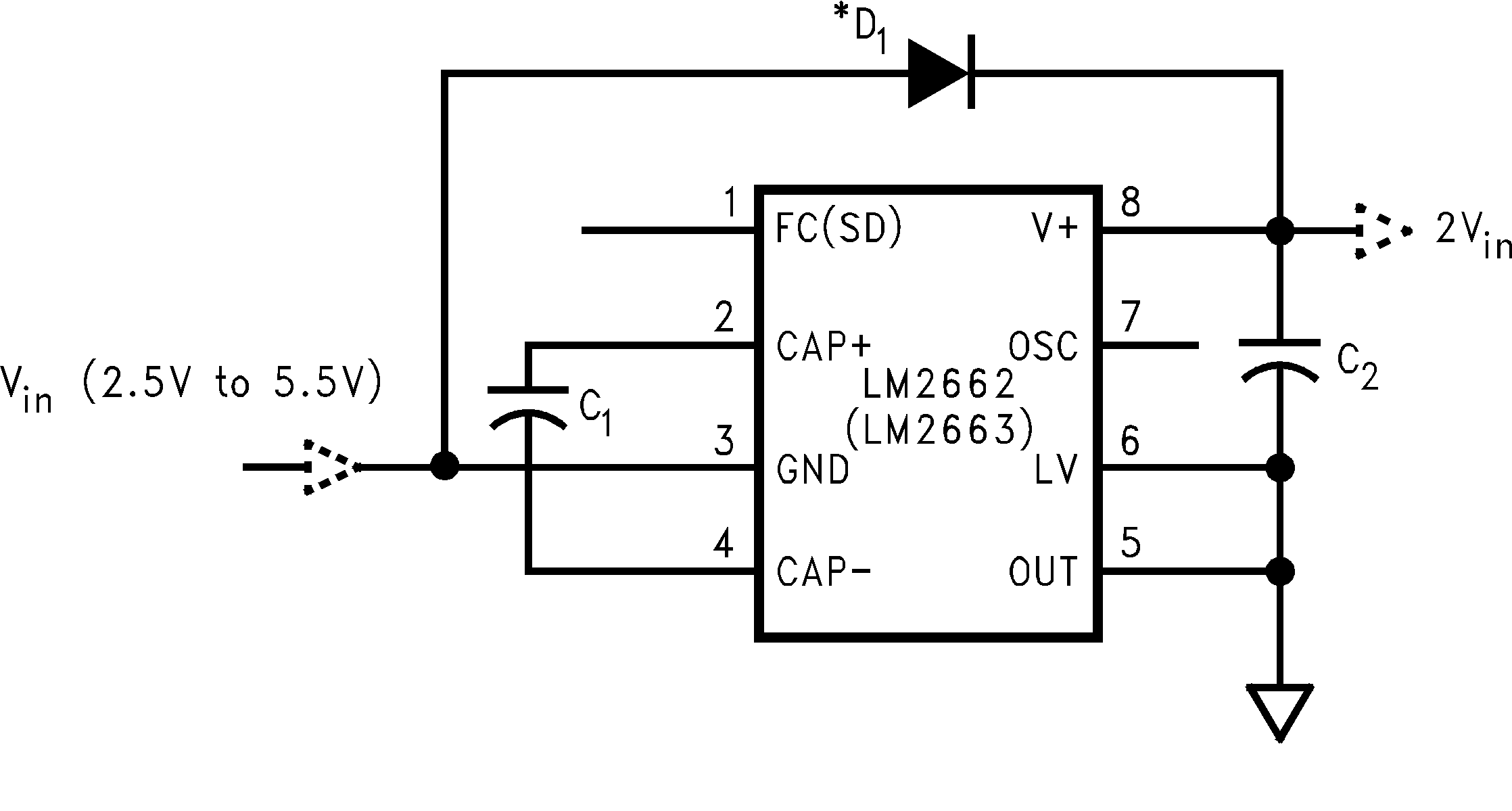 Lm2663 Voltage Multiplier With Diodes And Capacitors 922 Positive Doubler