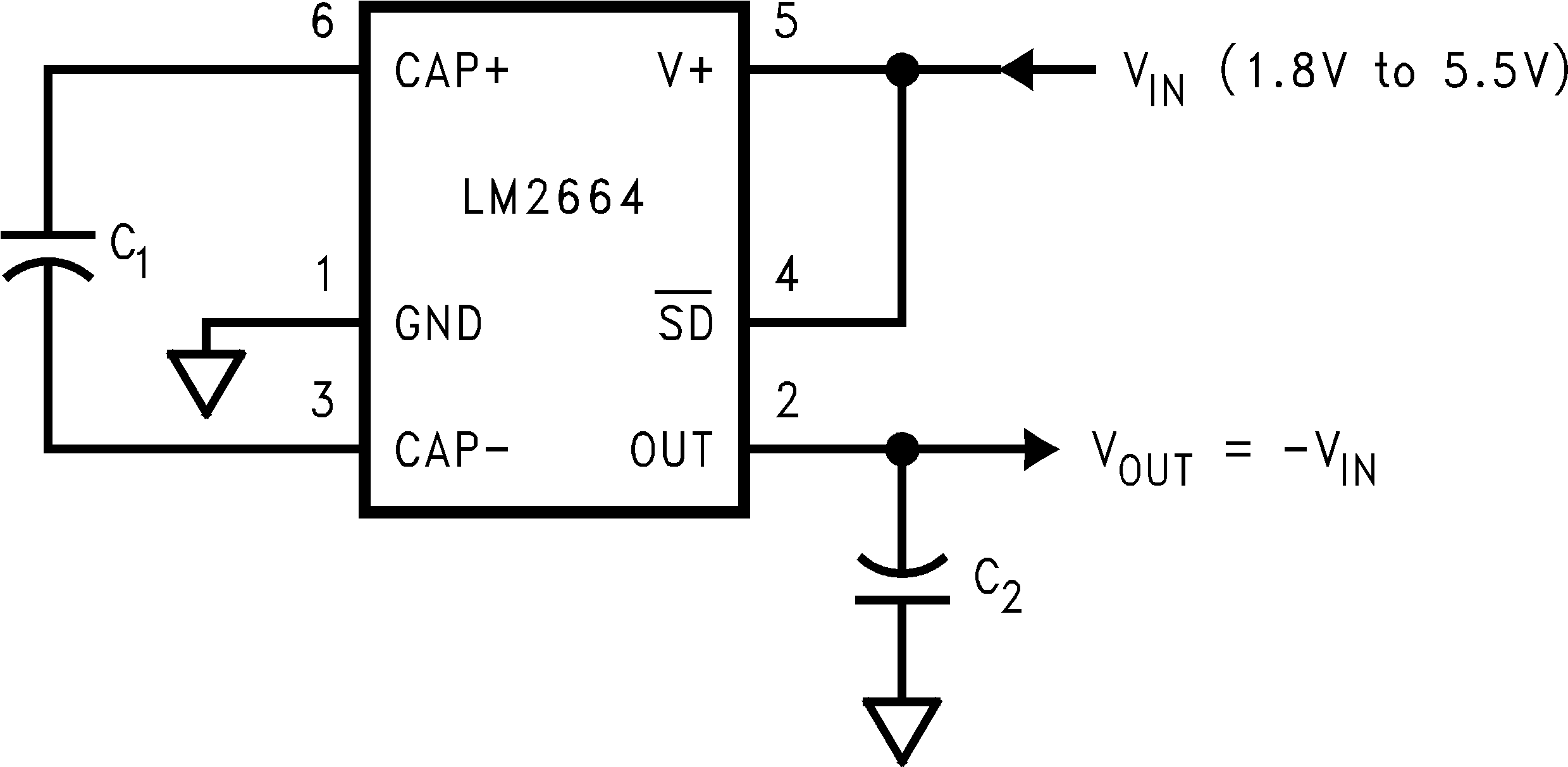 Lm2664 Capacitor Discharging Circuit 92 Typical Application Voltage Inverter