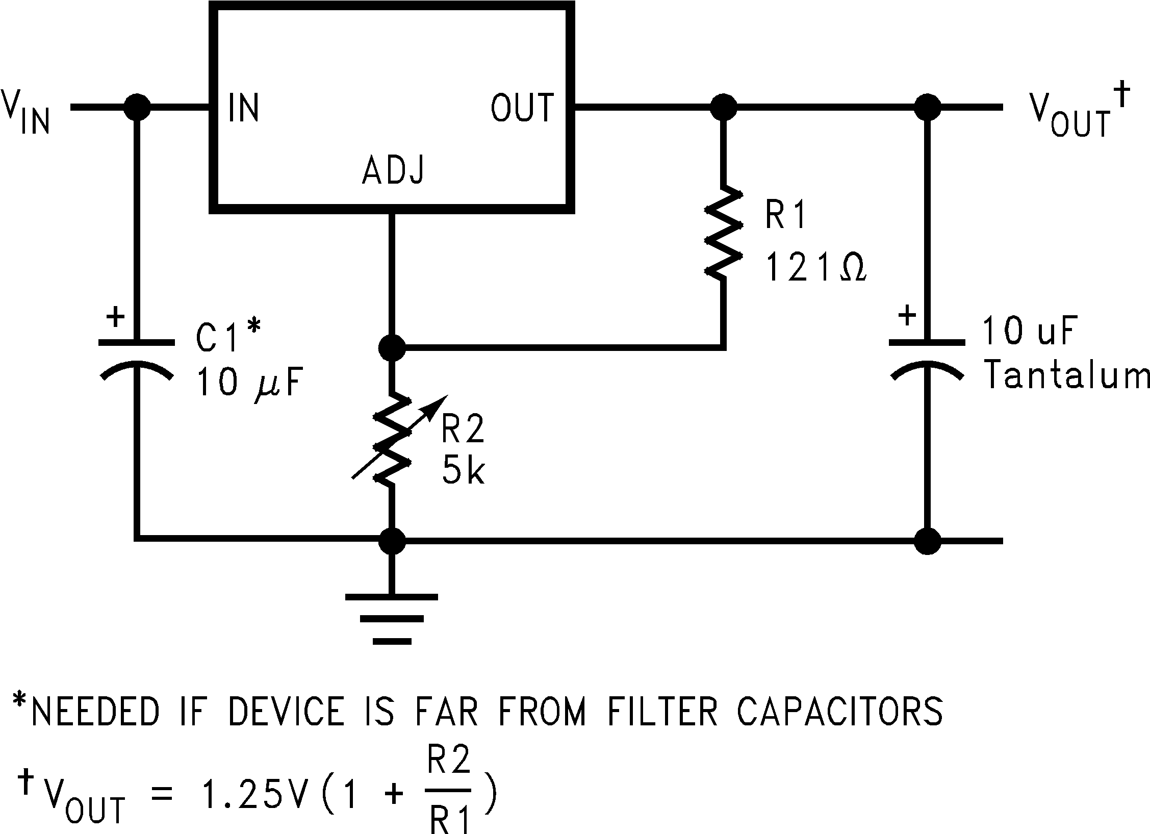 Lm1084 L Filter Circuit Diagram Typical Application
