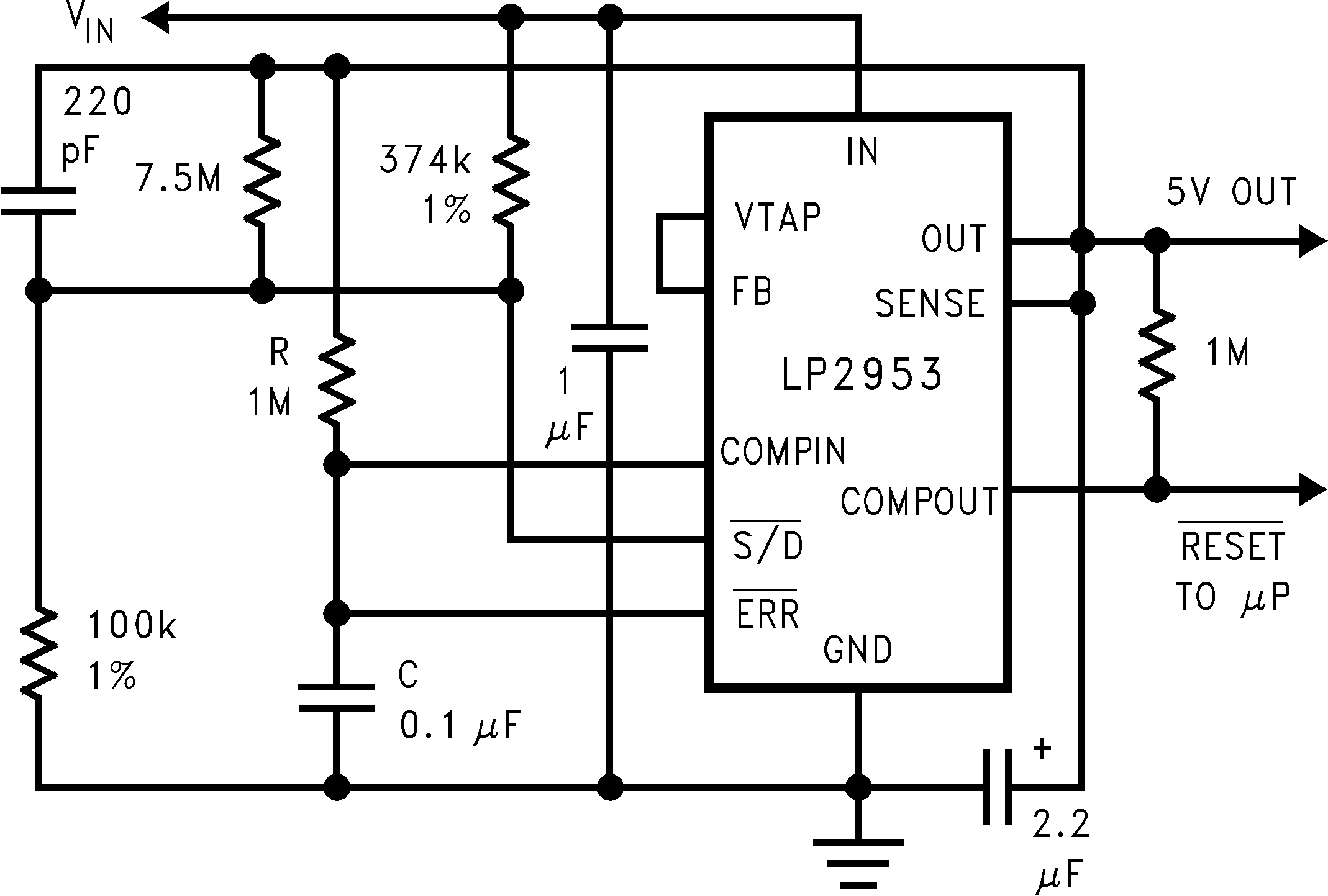 Lp2953 Figure 5 Comparator Circuit With Hysteresis Its Timing Diagram Shows As 45 Lp2952 N Lp2952a Lp2953a 01112724