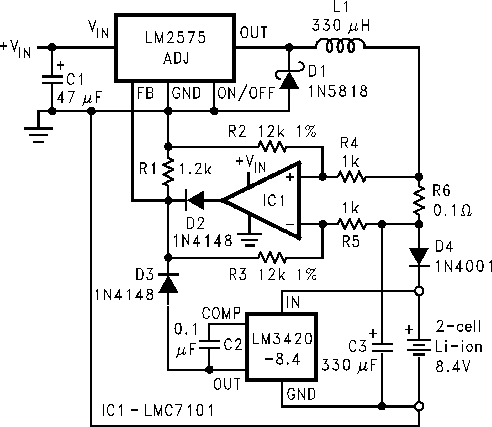Lm3420 Above Charging Circuit Probably Follows More Or Less The High Efficiency Switching Charger With Side Current Sensing