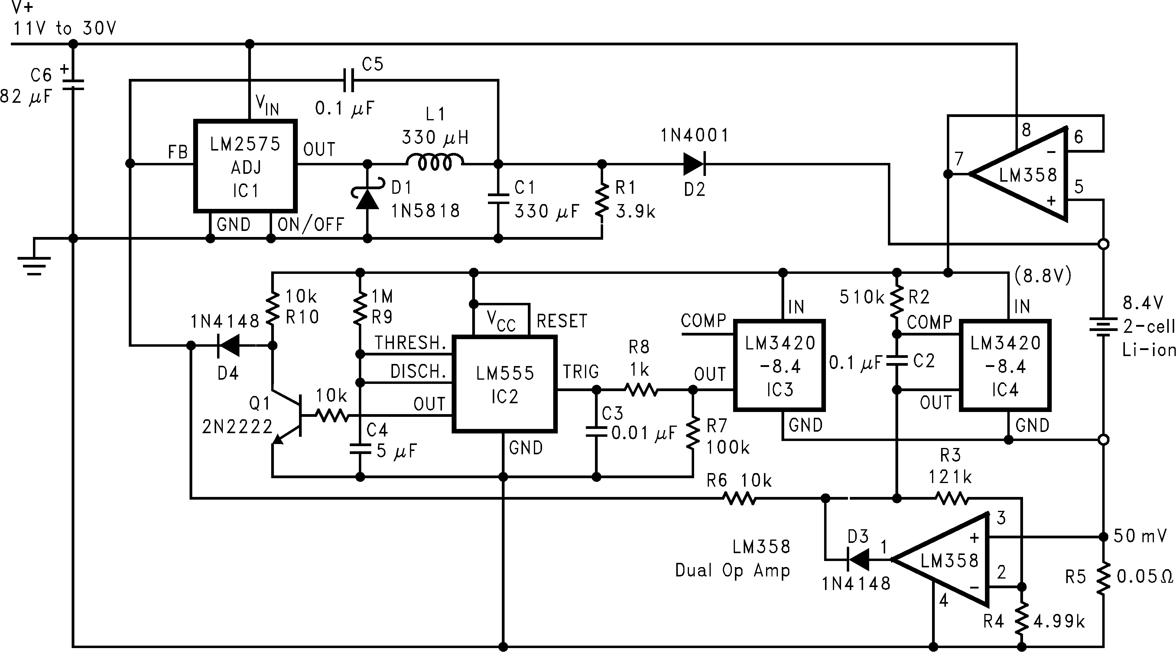 Lm3420 Lithium Battery Charger Circuit Diagram Fast Pulsed Constant Current 2 Cell