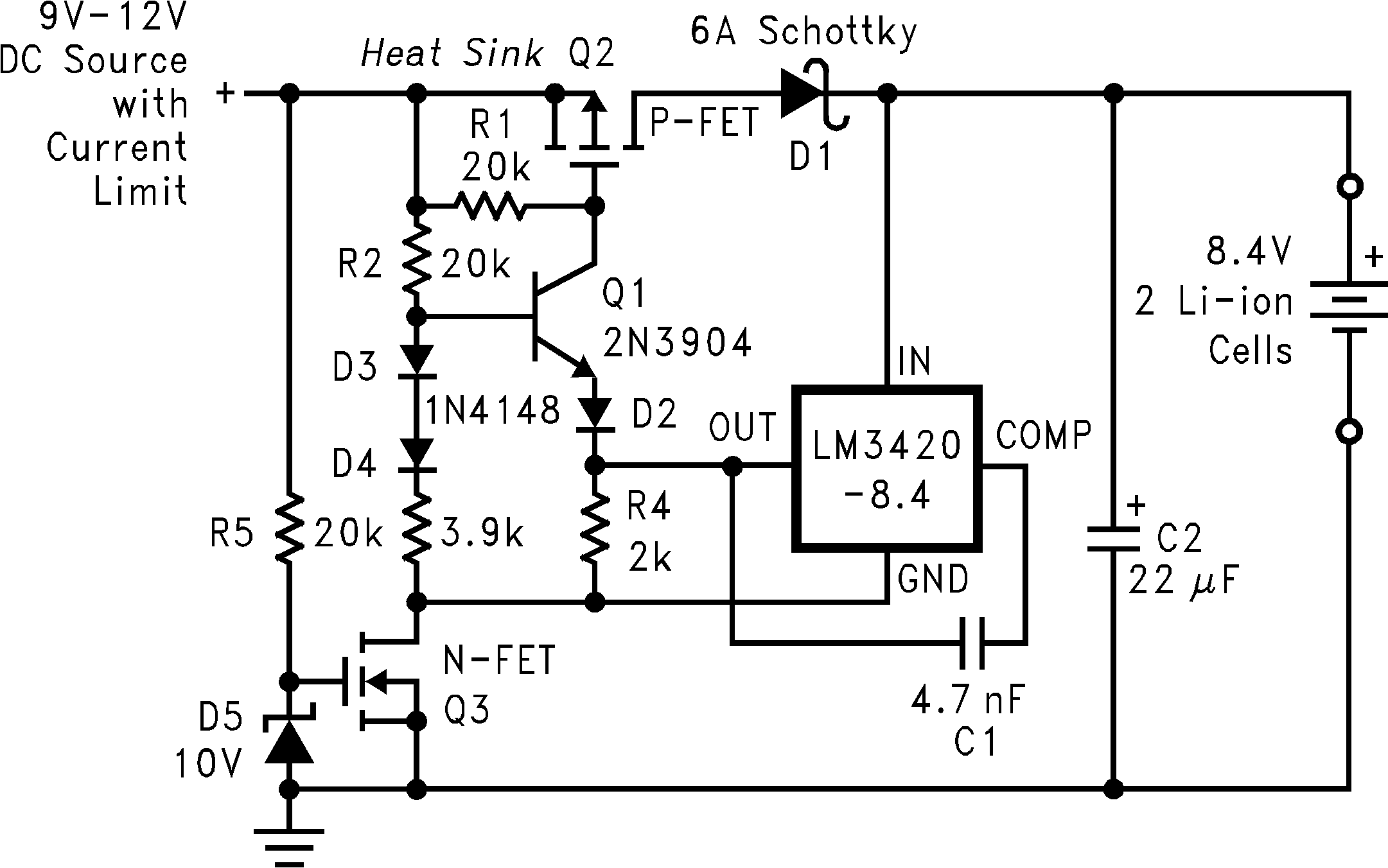 Lm3420 Simple Constant Current Automobile Battery Charger Circuit Using Ic Lm Mosfet Low Dropout