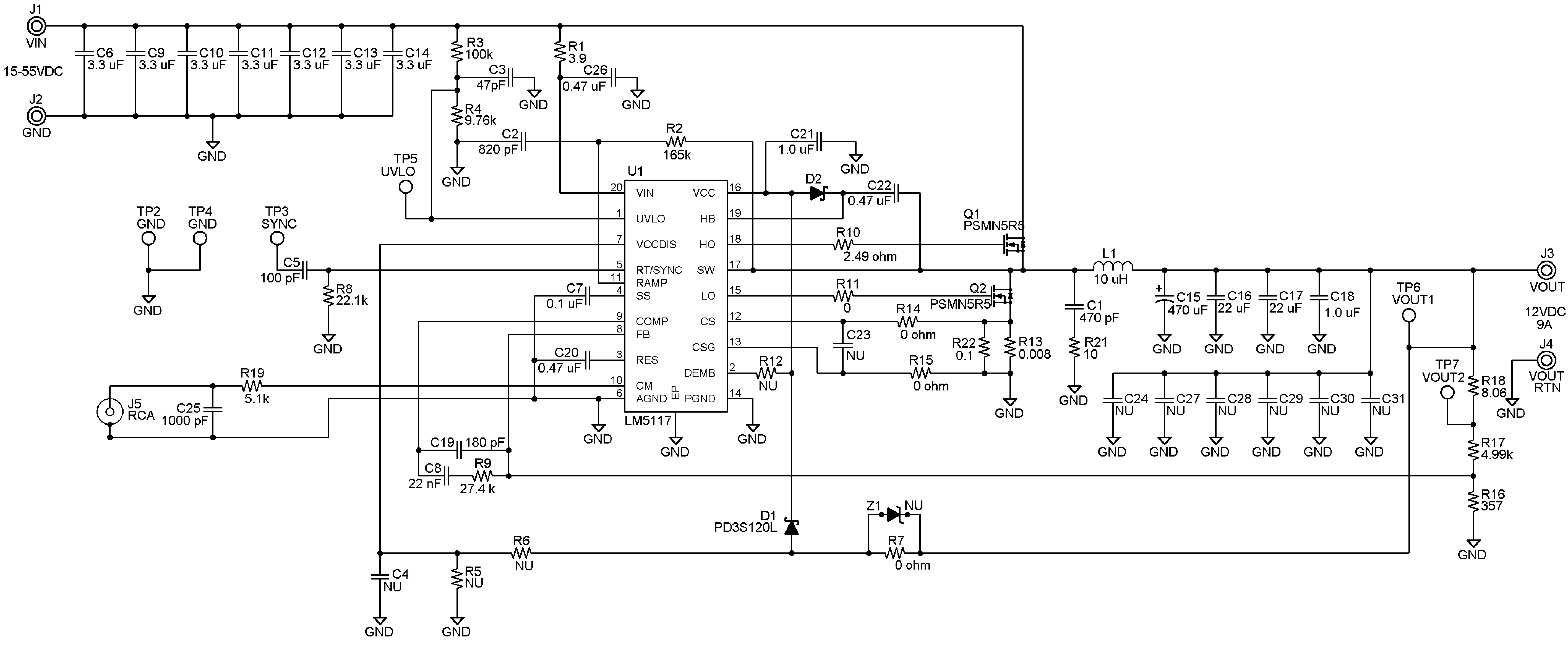 Lm5117 Voltage Divider Used To Obtain Vin From The Vcc Or Power 82 Typical Applications