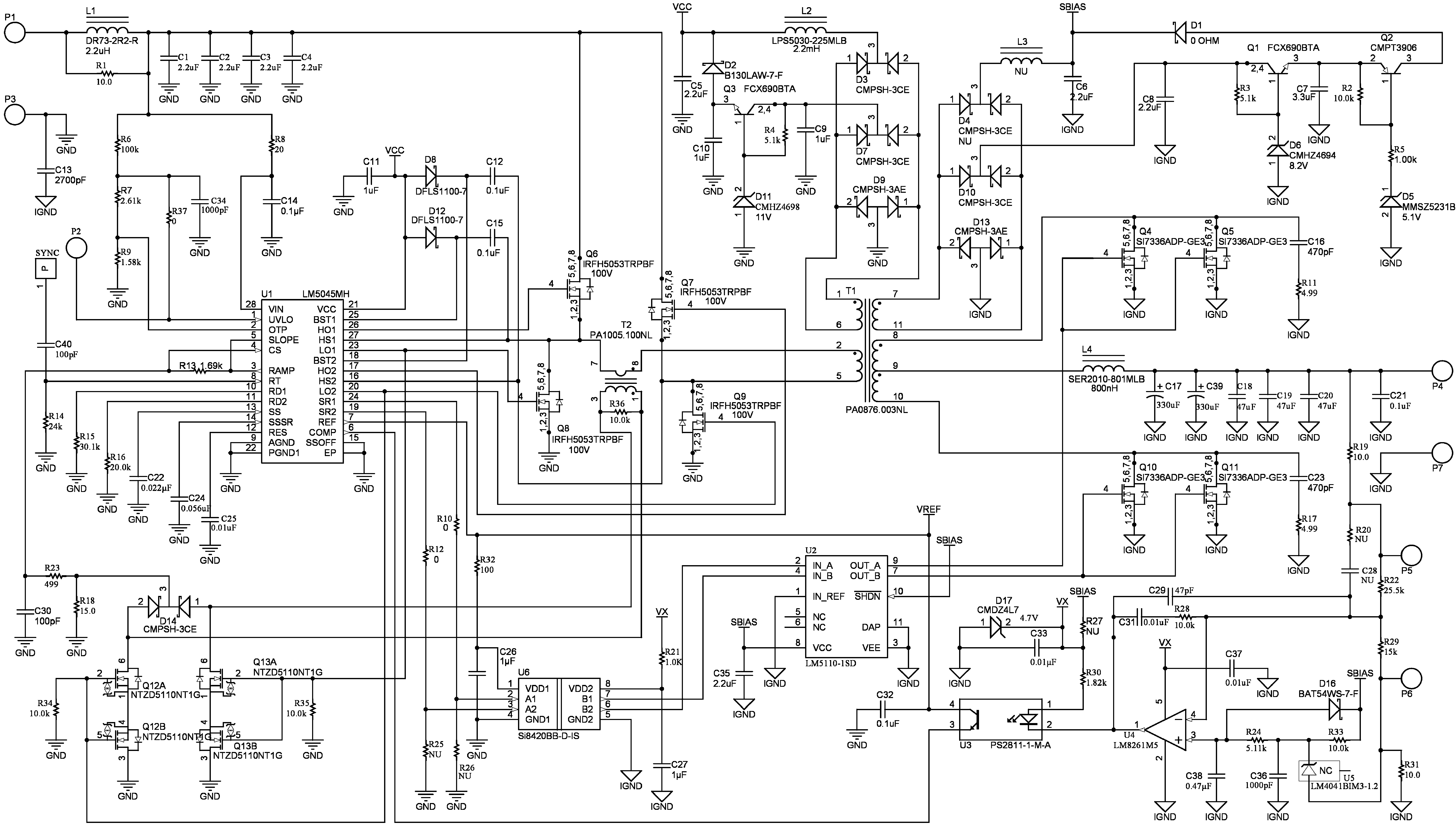 Lm5045 If The Voltage Goes Into Pin Three Then Circuit Becomes A Non Figure 19 Evaluation Board Schematic