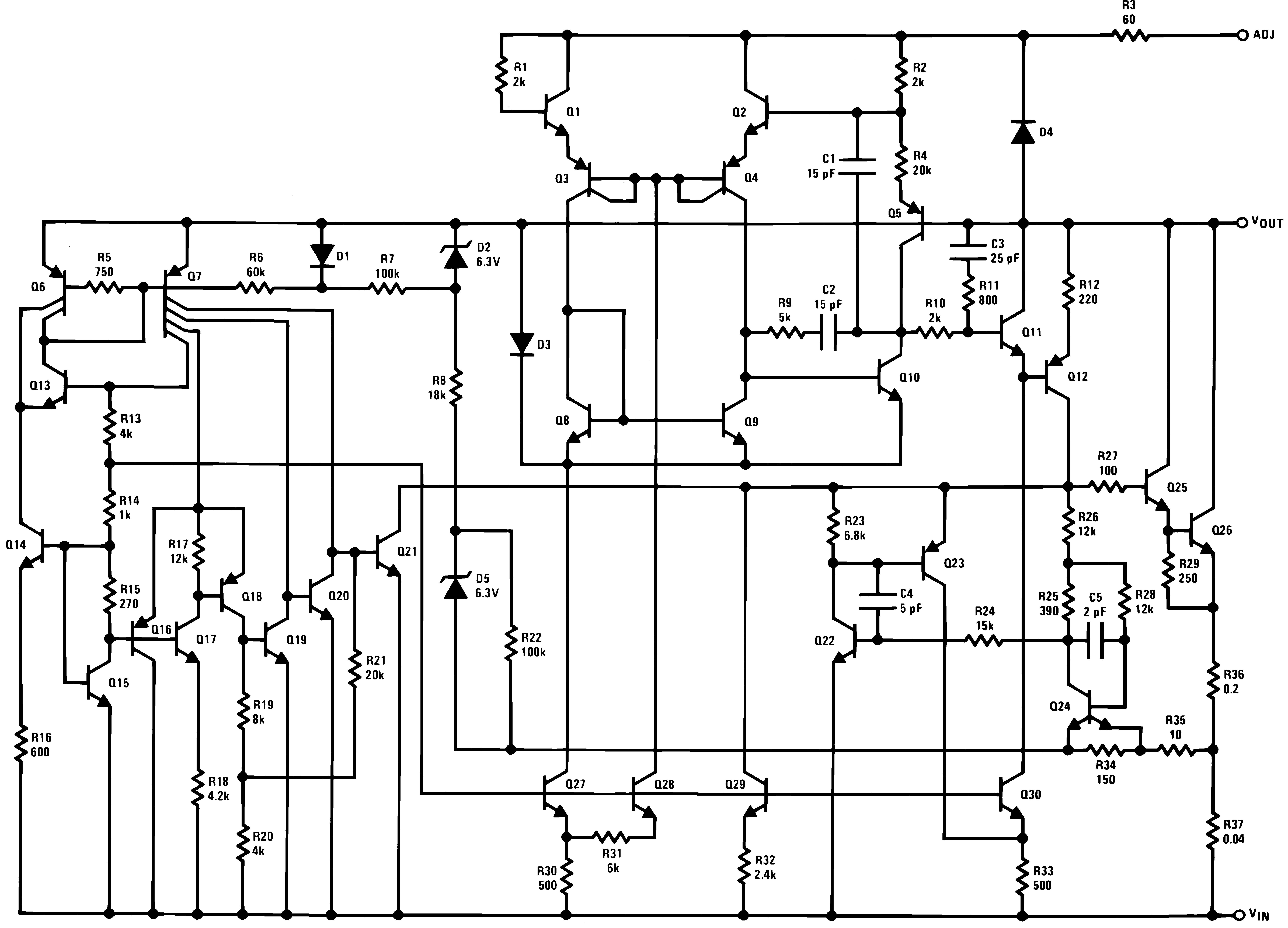 Lm337 N Adjustable 3 Ampere Regulator 72 Functional Block Diagram