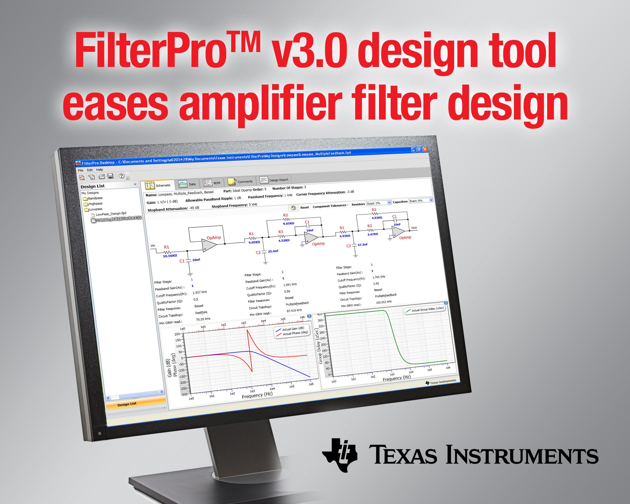 日本ti アクティブ フィルタの設計に役立つ filterpro v3 0 設計